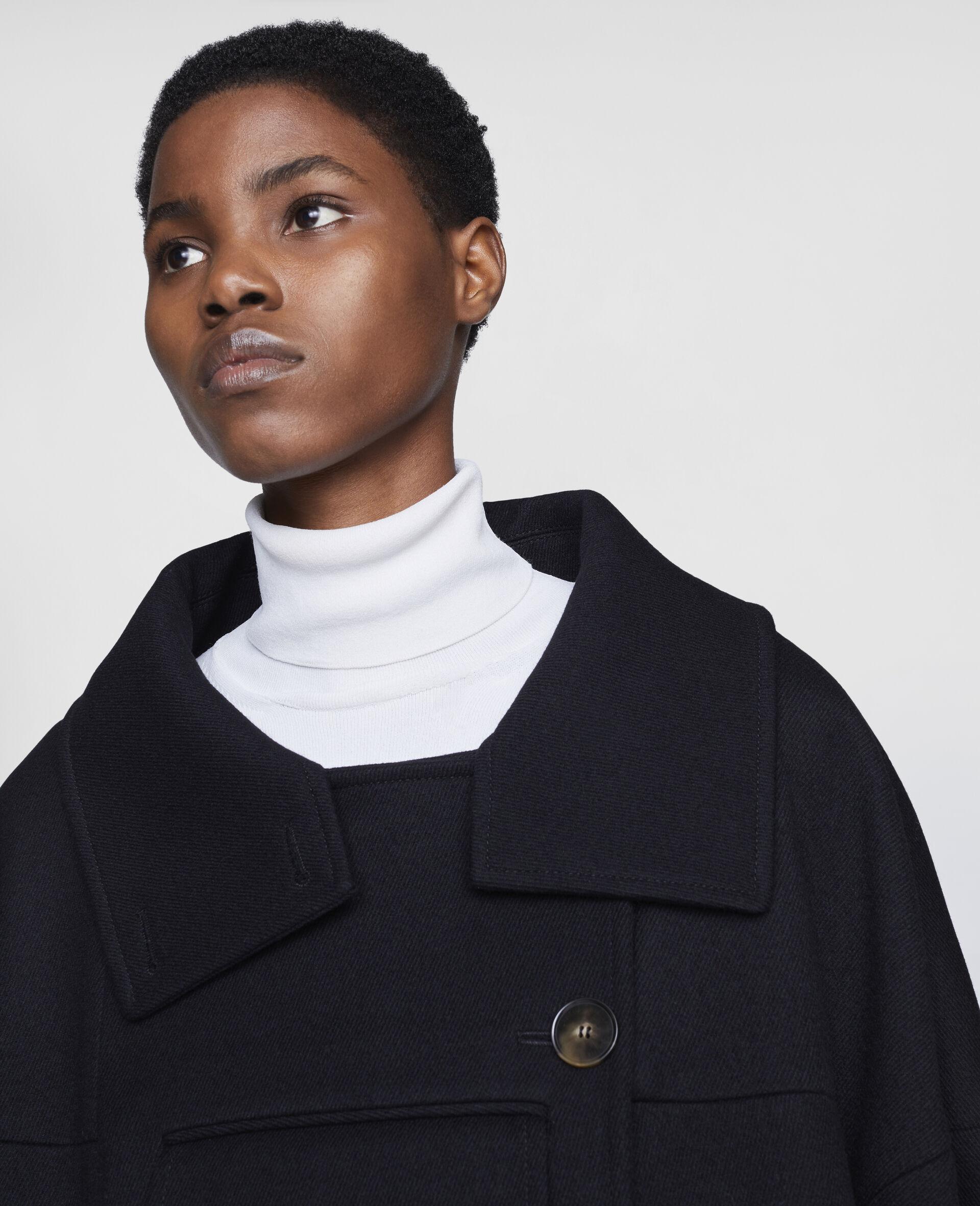 Veda Wool Coat-Black-large image number 3