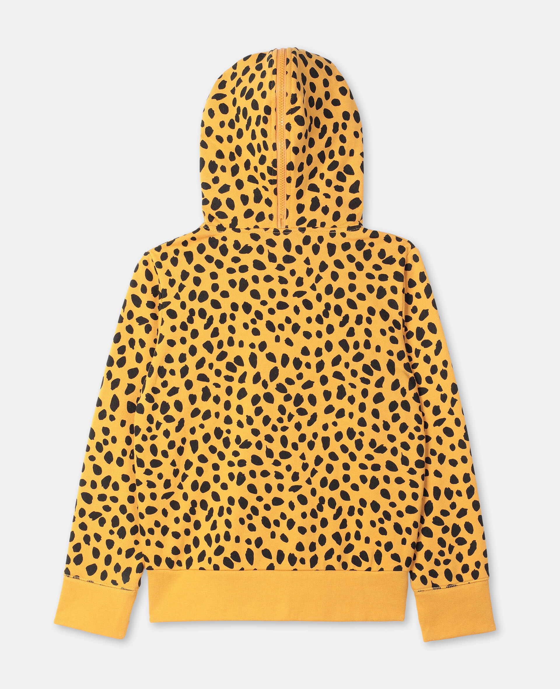Cheetah Dots Cotton Hoodie -Multicolour-large image number 3