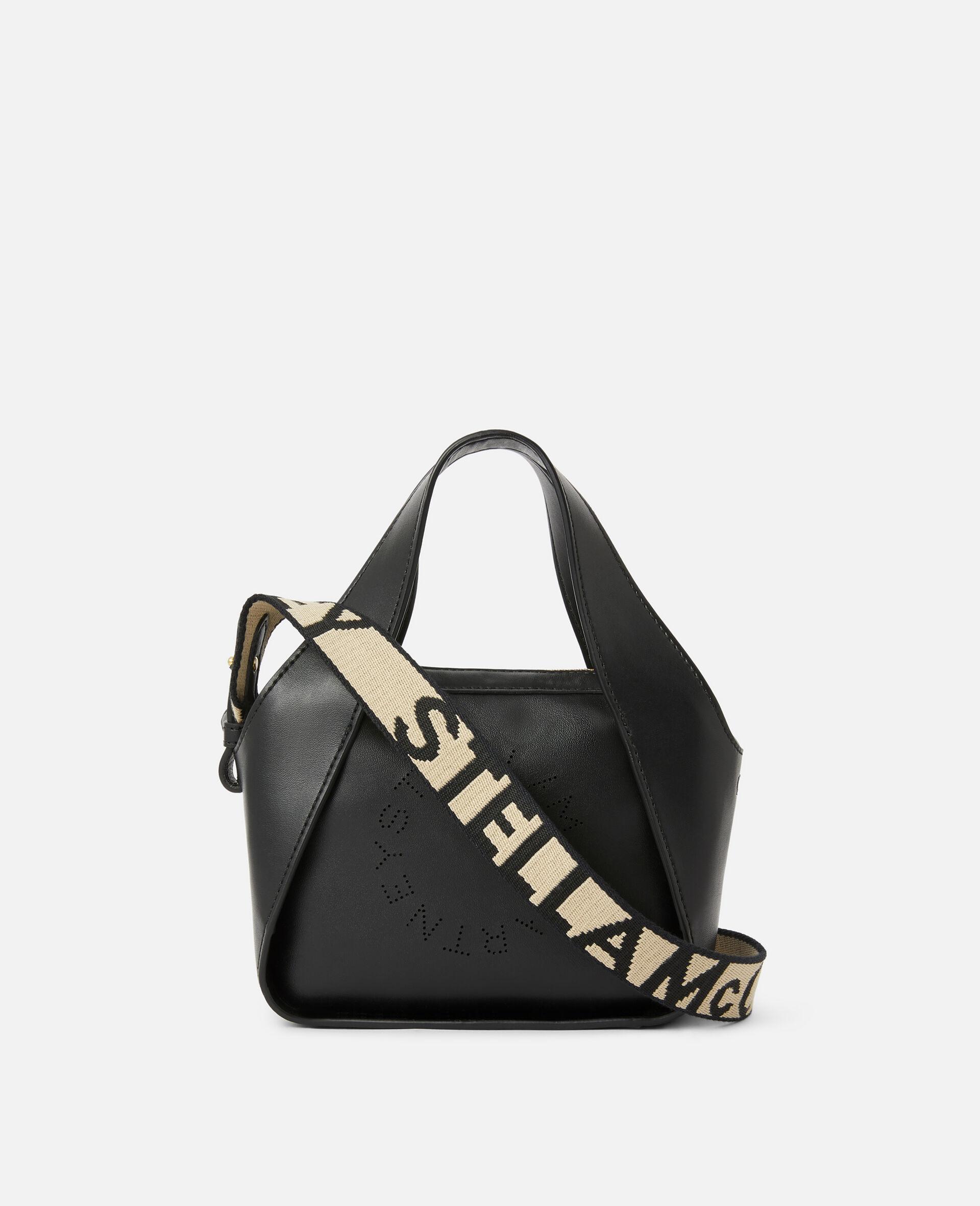 Mini Stella Logo Crossbody Bag -Black-large image number 1