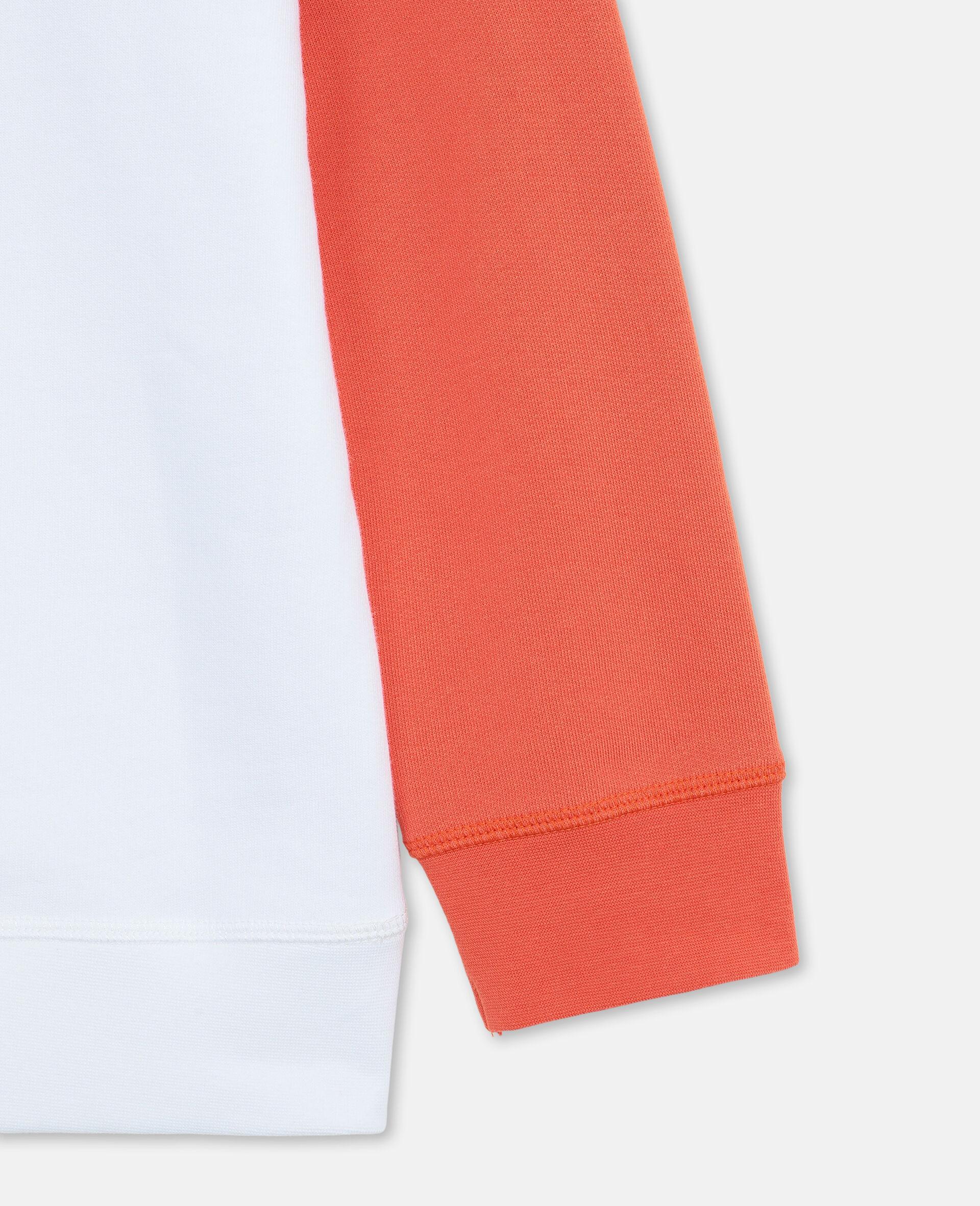 Oversized-Kapuzenpullover aus Baumwolle mit Basketball-Print und Logo-Weiß-large image number 2