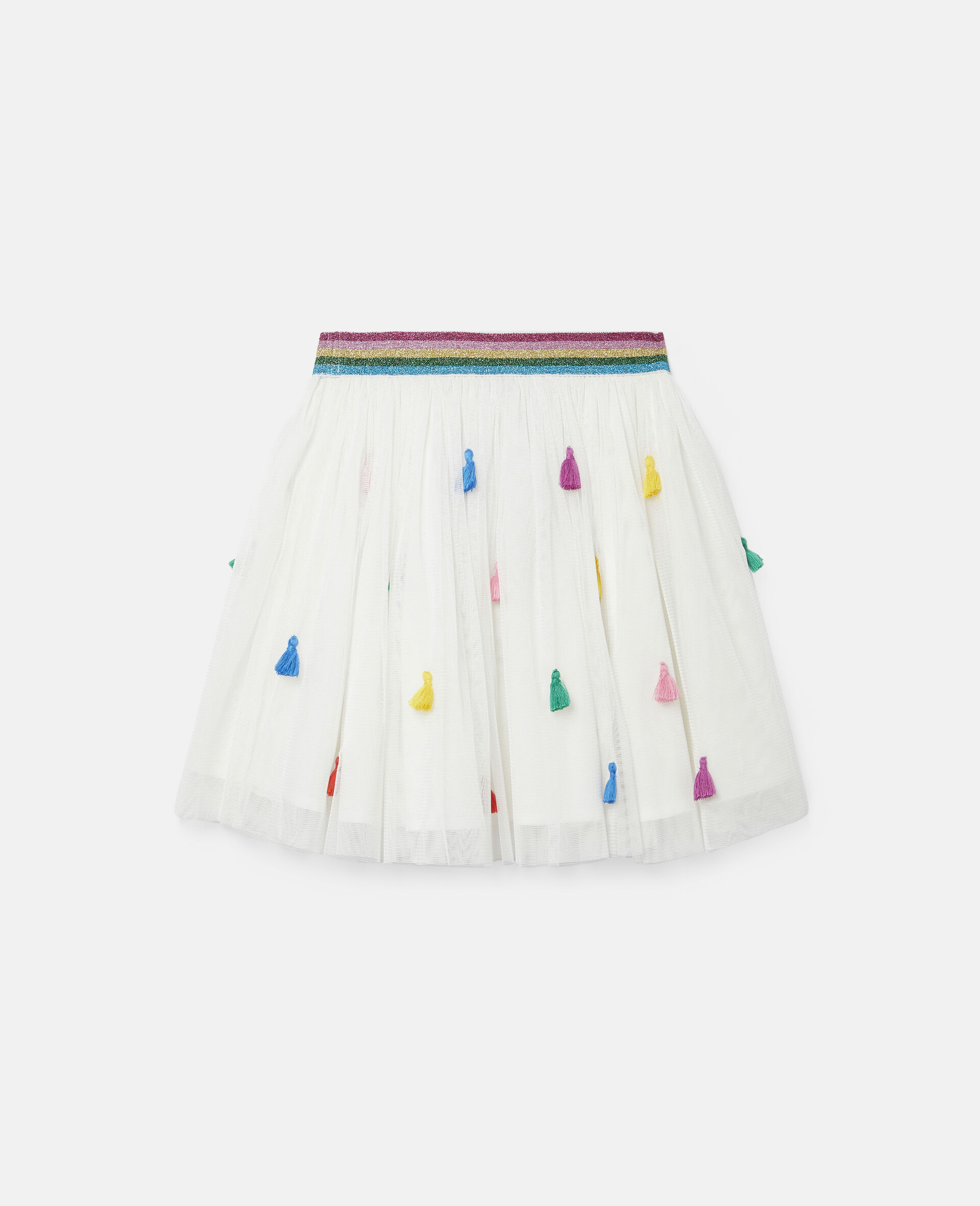 Gonna in Tulle con Nappine -Bianco-large image number 3