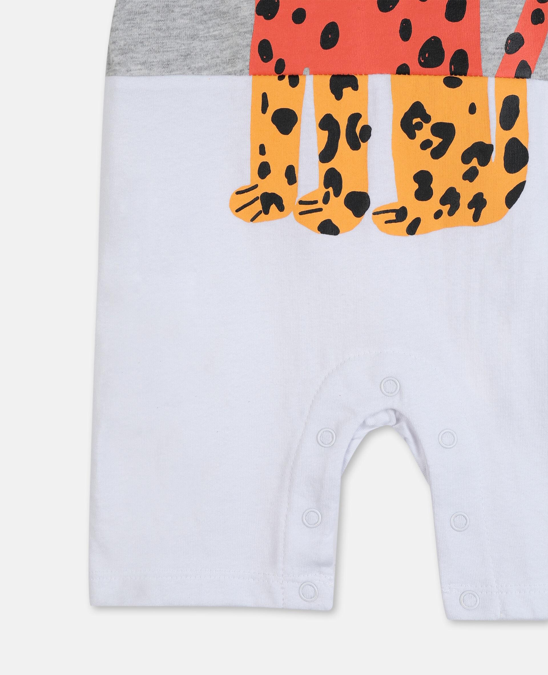 Tiger Cotton Jumpsuit-White-large image number 1