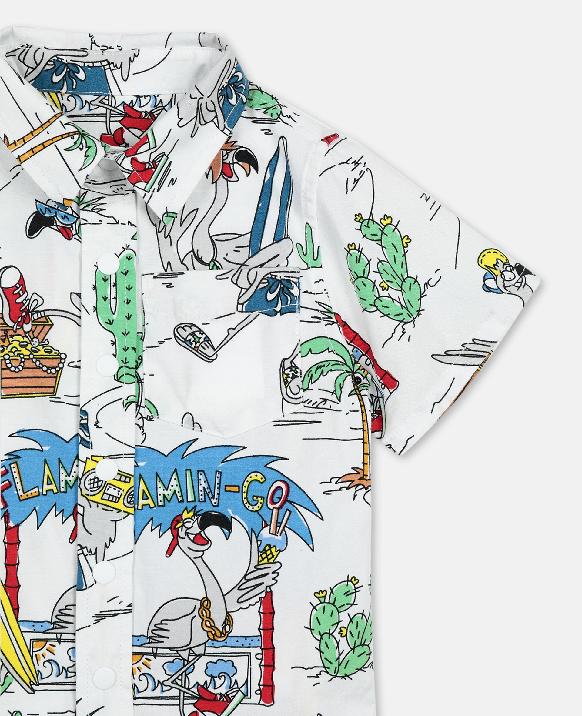 Hemd aus Baumwolle mit Flamingo-Land-Print -Bunt-large image number 2