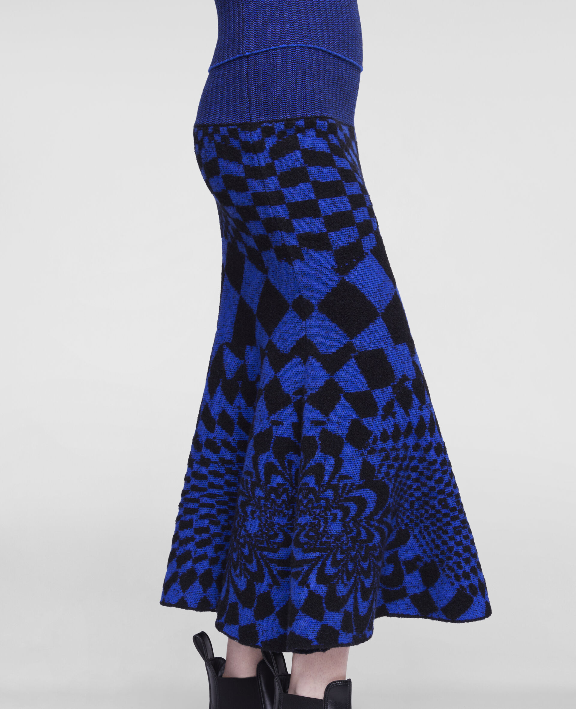 Geometric Pattern Skirt-Multicolour-large image number 3