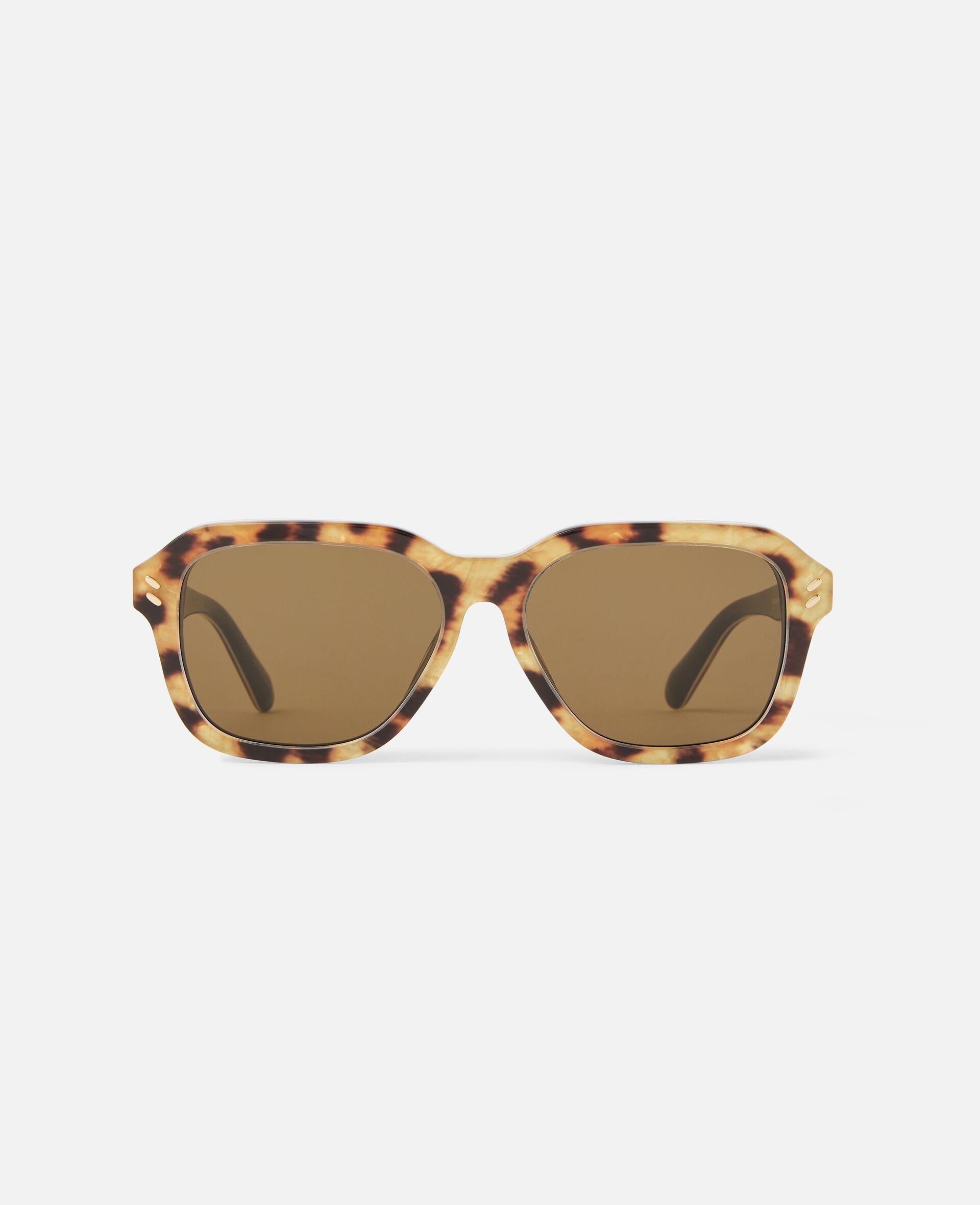Eckige Sonnenbrille-Brown-large image number 0