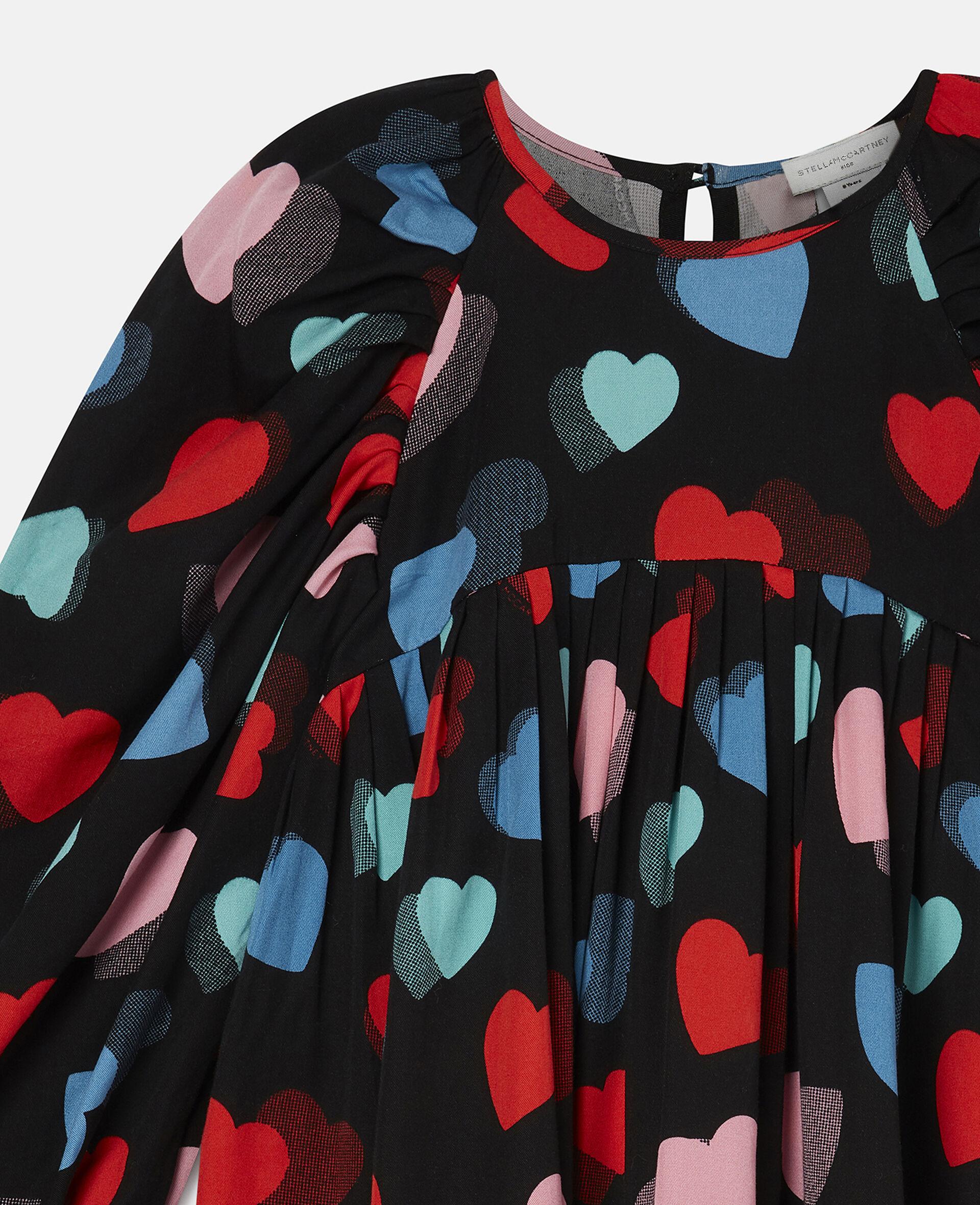 Kleid aus Tencel-Twill mit Herzen-Print-Bunt-large image number 2