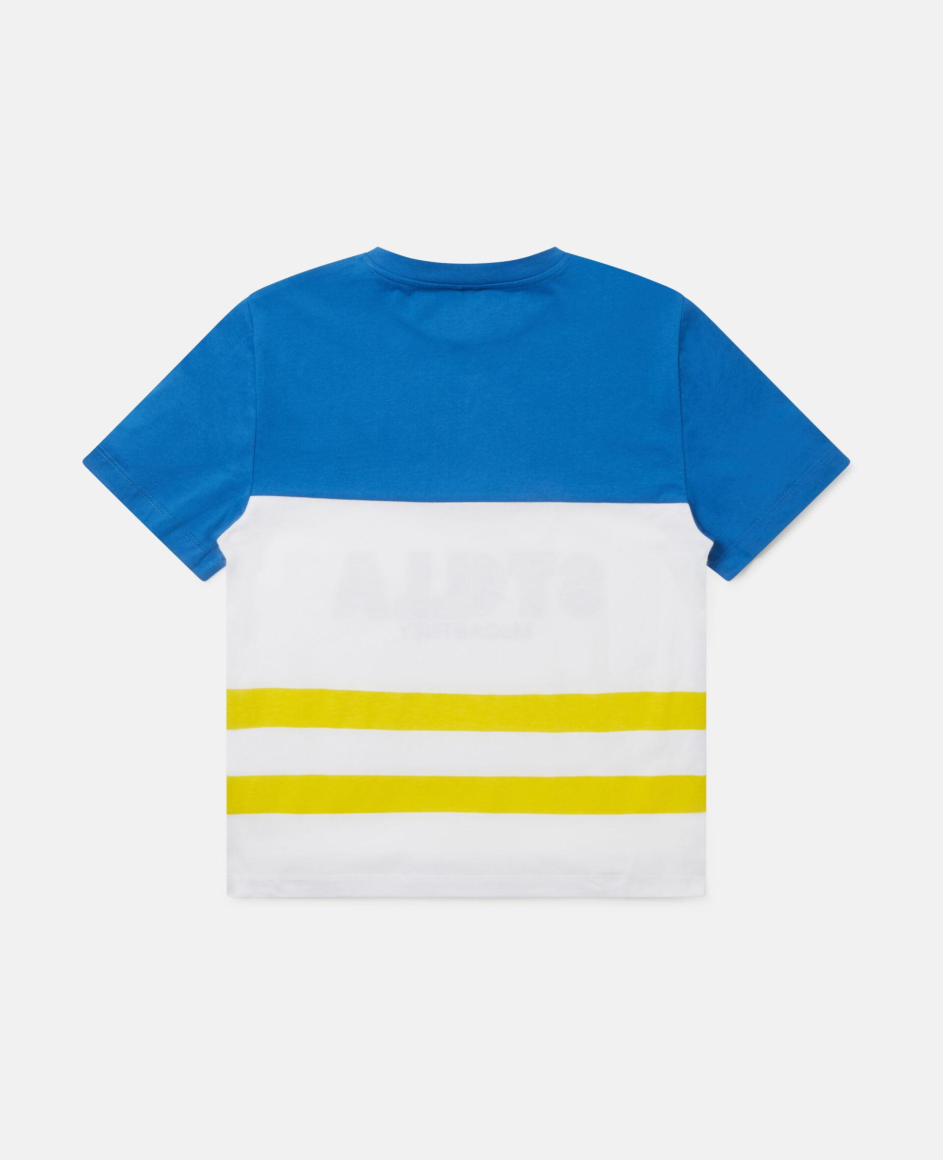 Oversized Logo Cotton T-shirt-Multicolour-large image number 3