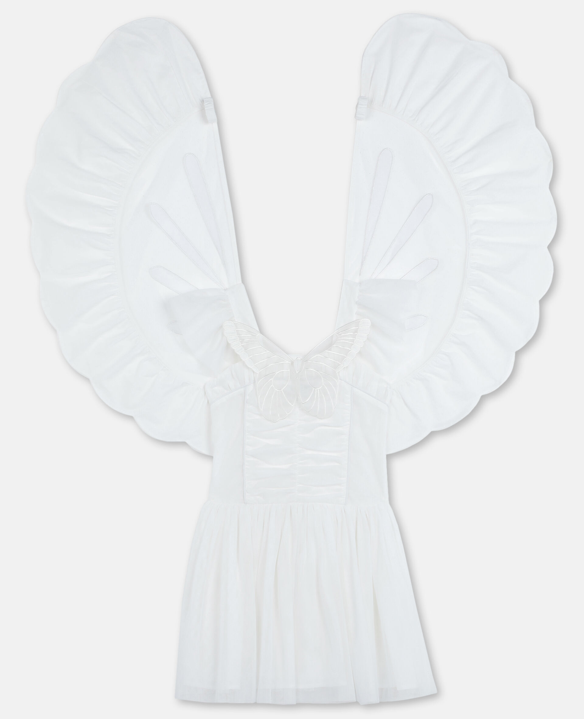 Butterfly Tulle Dress-White-large image number 0