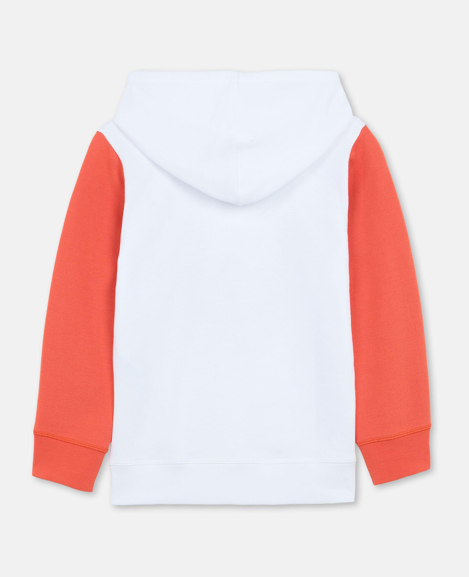 Oversize Logo Basketball Cotton Hoodie-White-large image number 3