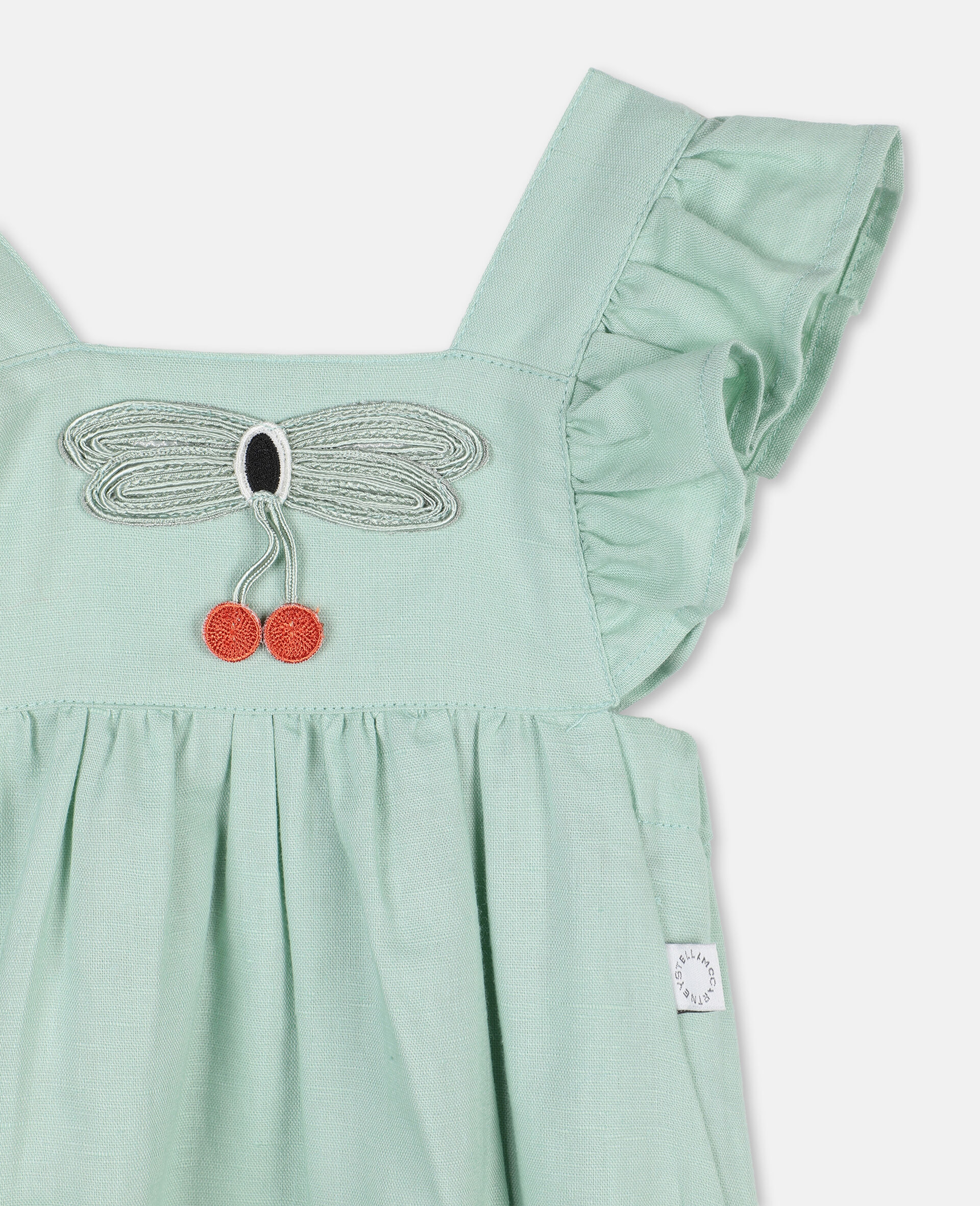 Butterfly Lace Jumpsuit-Green-large image number 1