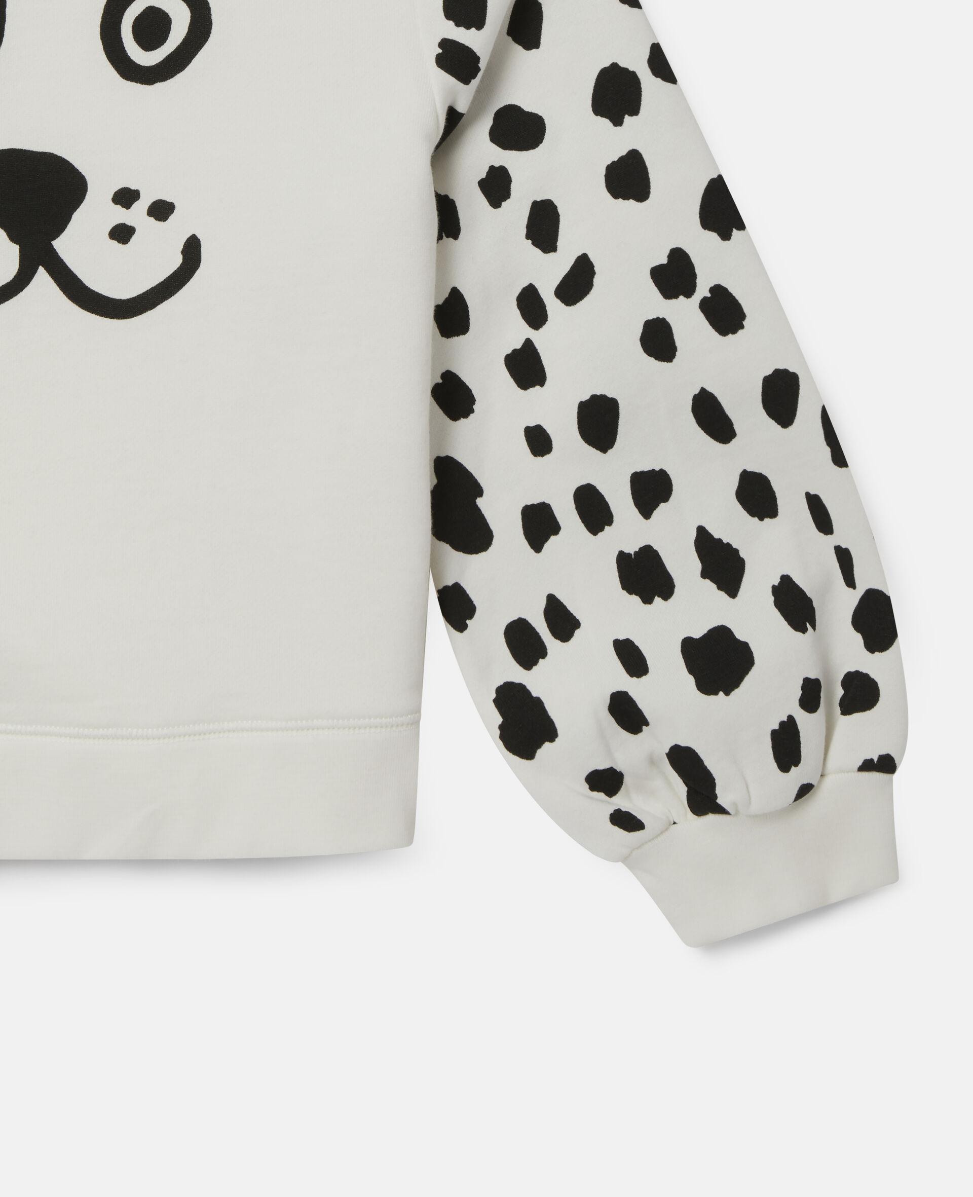 Fleece-Trainingsanzug mit Dalmatiner-Punkte-Print-Weiß-large image number 2