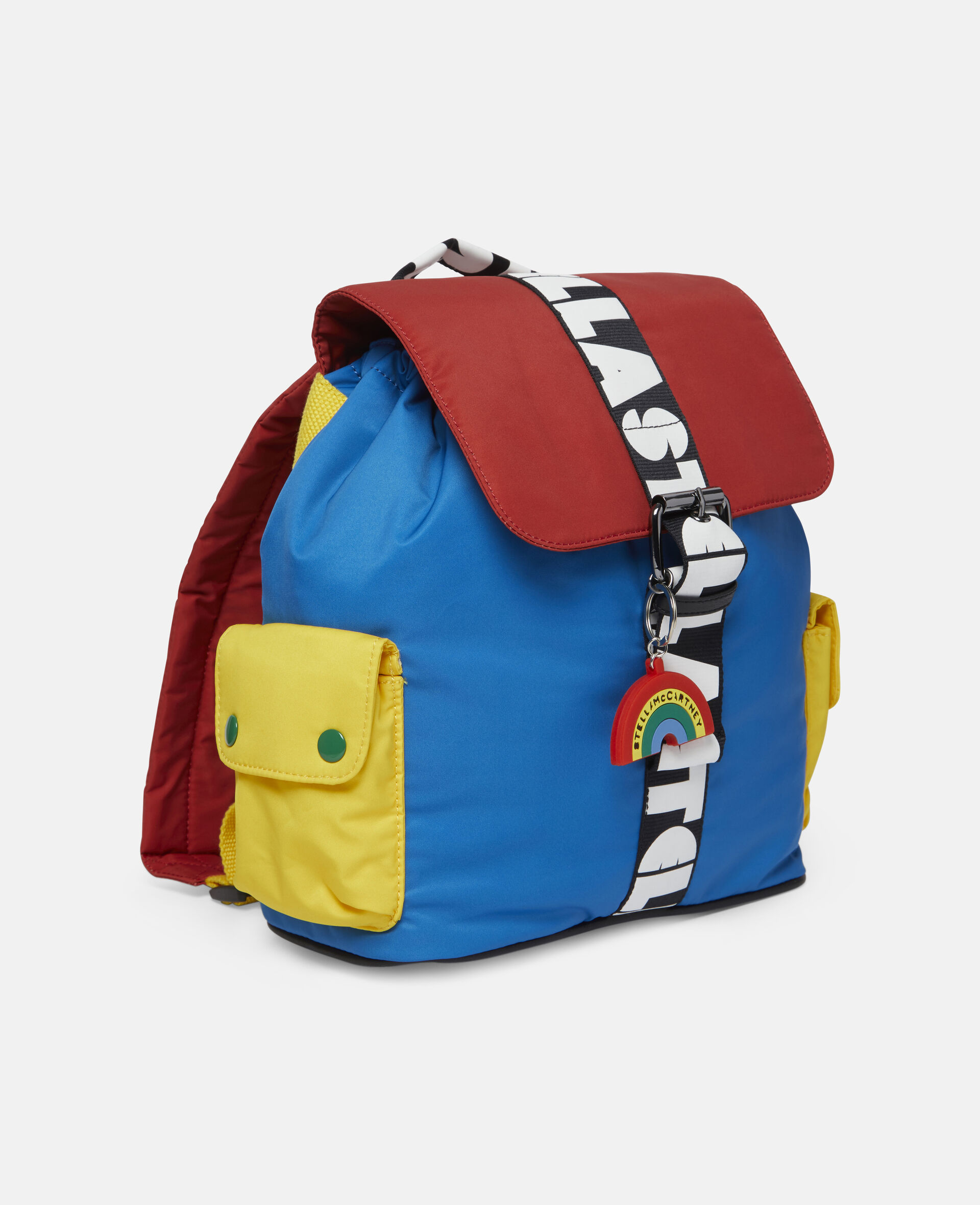 Colorblock Logo Small Backpack -Multicolour-large image number 1