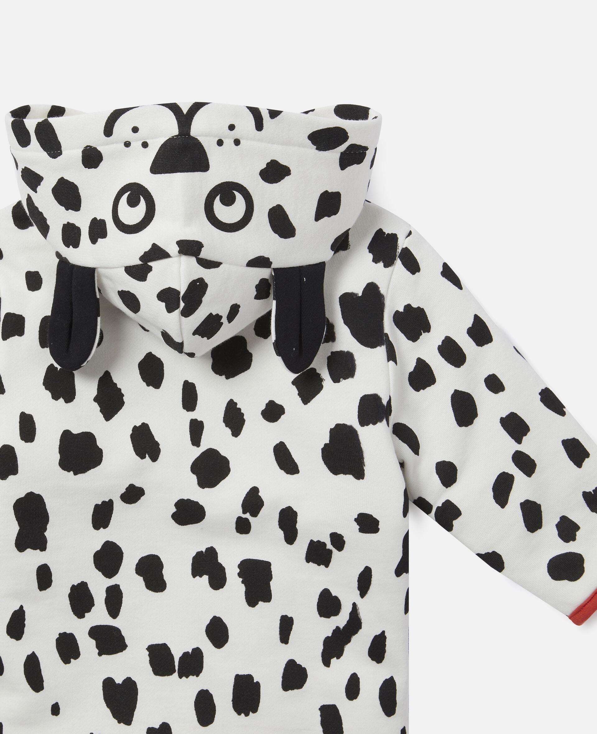Dalmatian Spots Fleece Jumpsuit-White-large image number 2