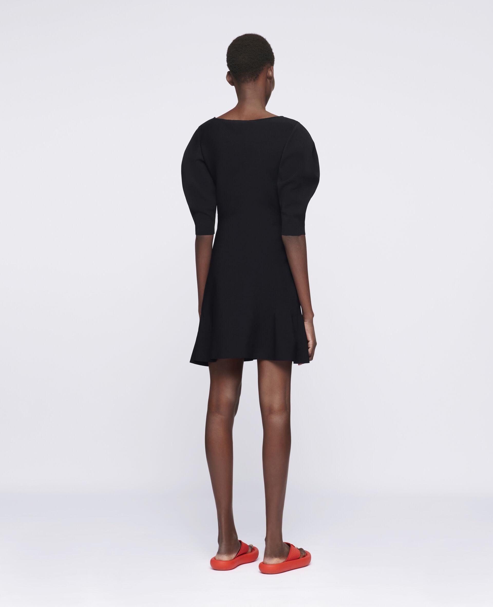 致密针织连衣裙-黑色-large image number 2