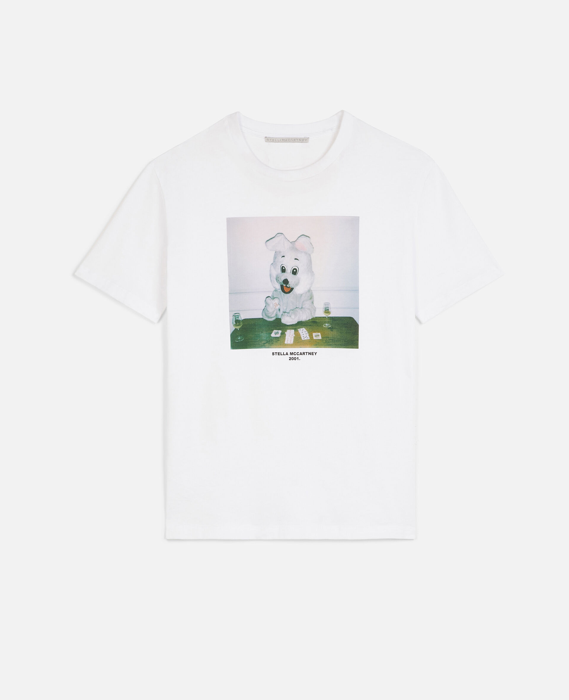 Bunny Print T-shirt -White-large image number 0
