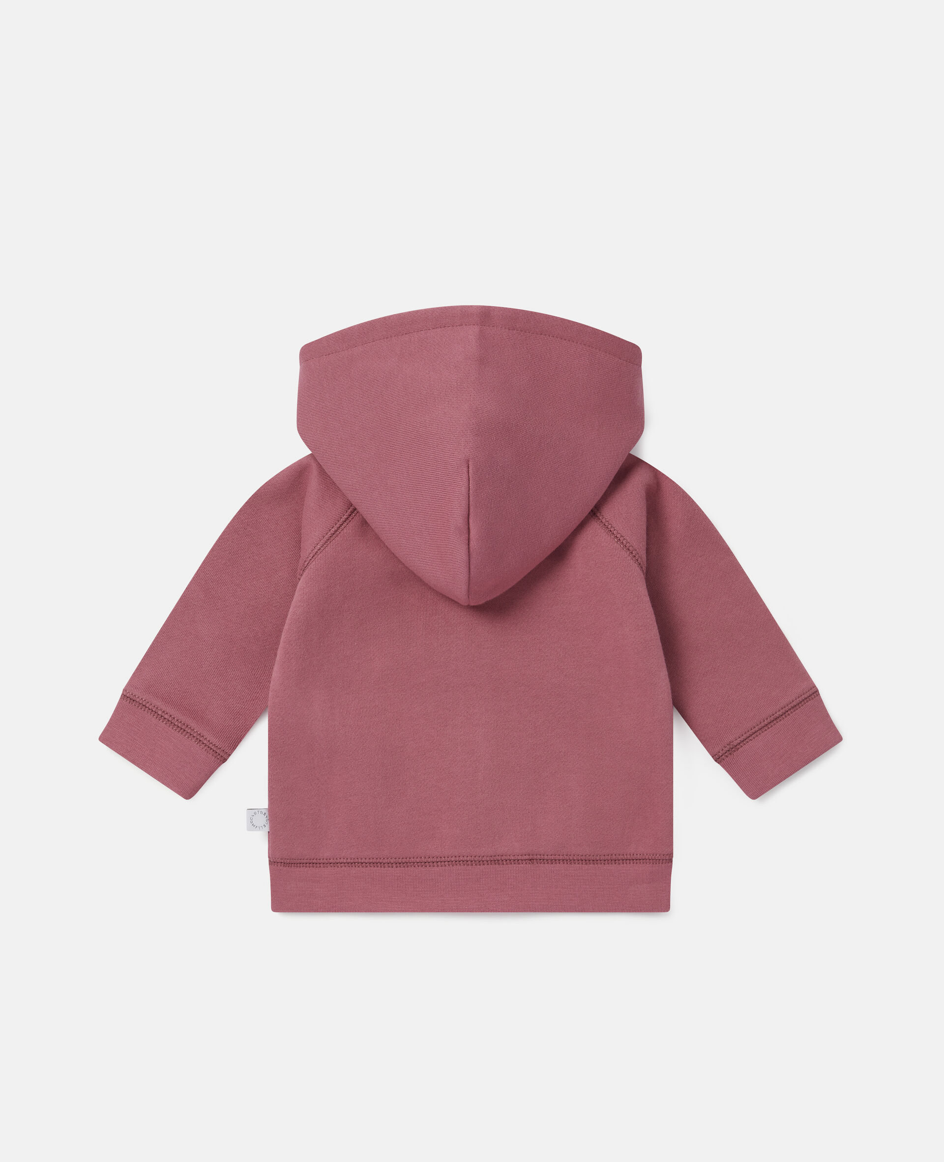 Sweat-shirt à capuche en polaire motifs jardin-Rouge-large image number 3