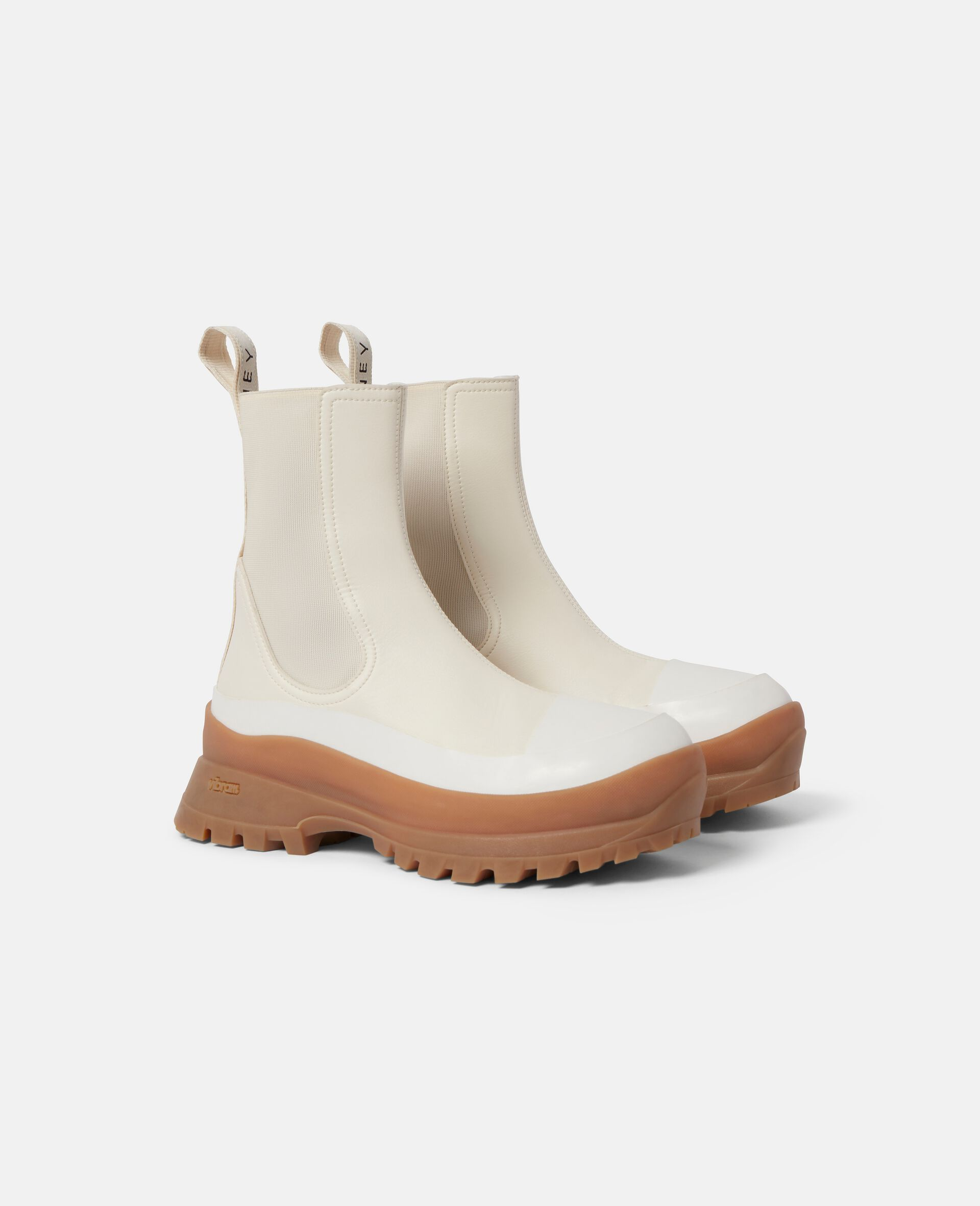 Trace Chelsea Boots-White-large image number 1