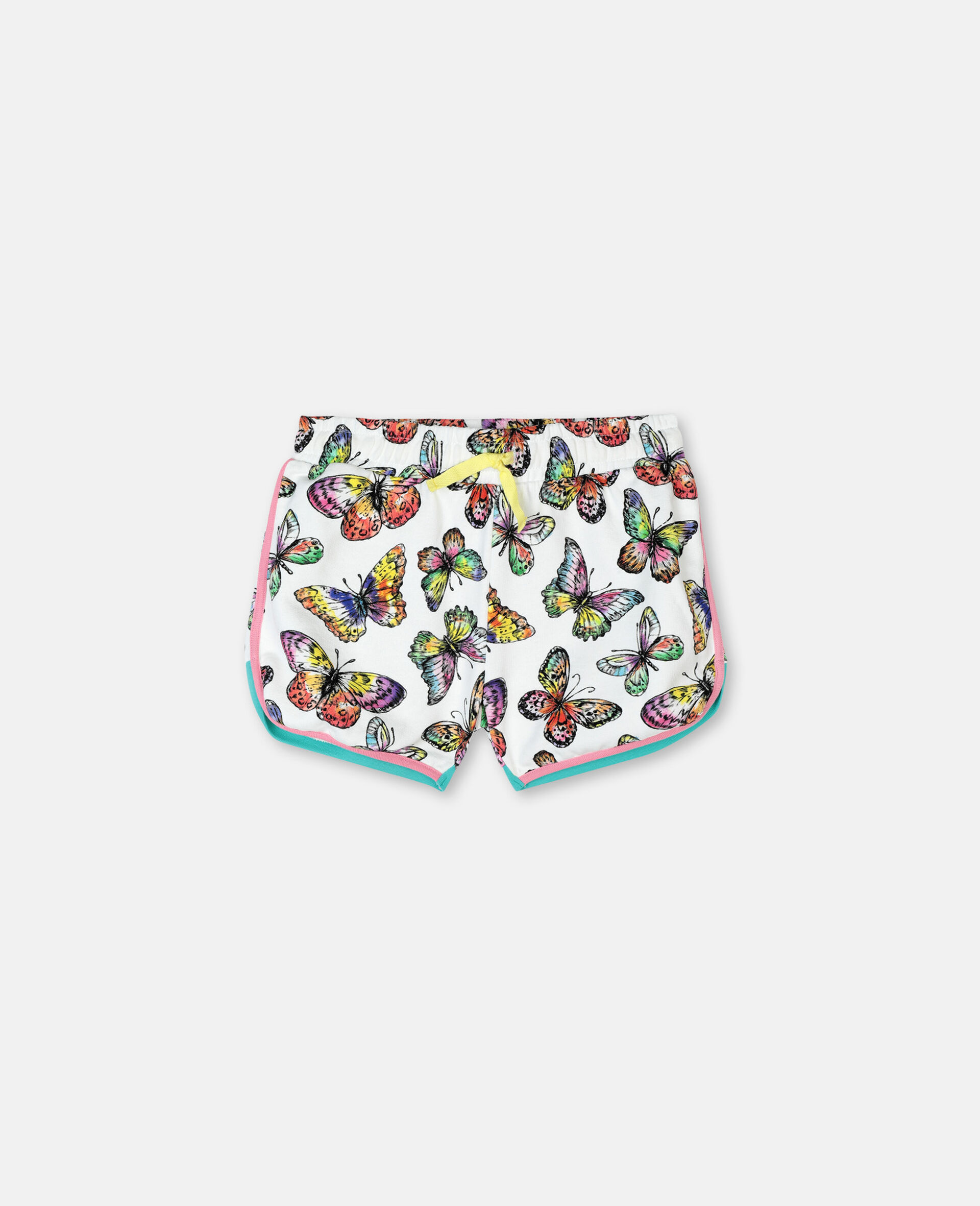 Butterfly Cotton Fleece Shorts-Multicolour-large image number 0