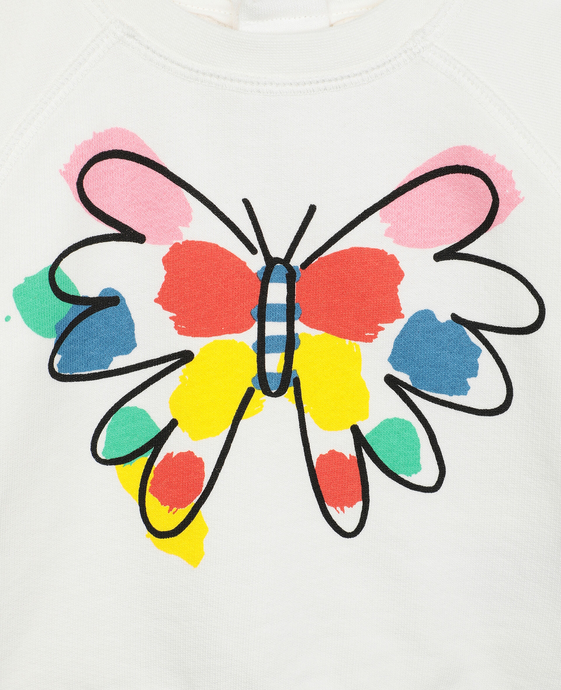 Butterfly Fleece Sweatshirt-White-large image number 1