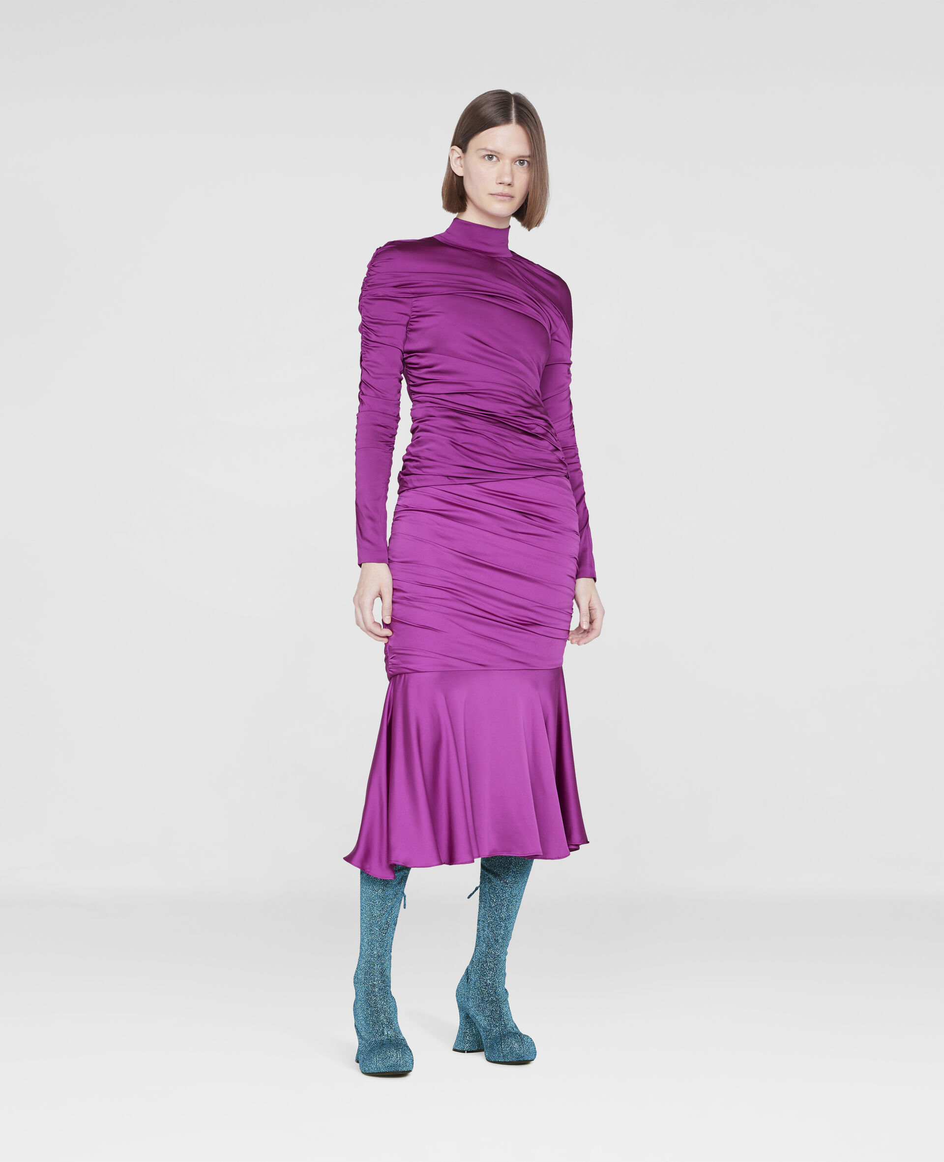Faye Ruched Top-Purple-large image number 1