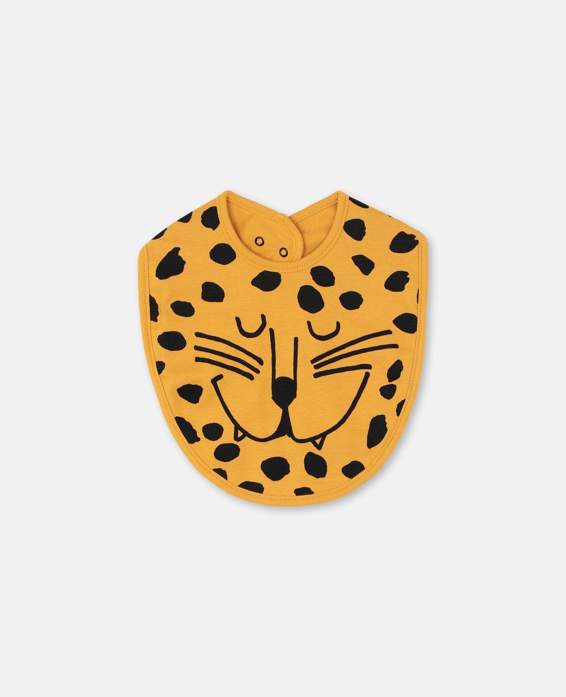 Lätzchen-Set aus geripptem Jersey mit Wildkatzen-Print -Bunt-large image number 1