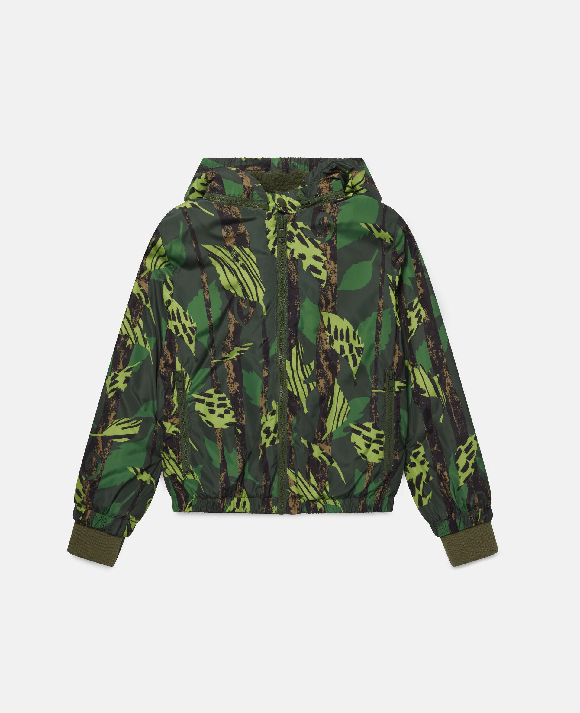 Leaves Hooded Jacket-Multicolour-large image number 0
