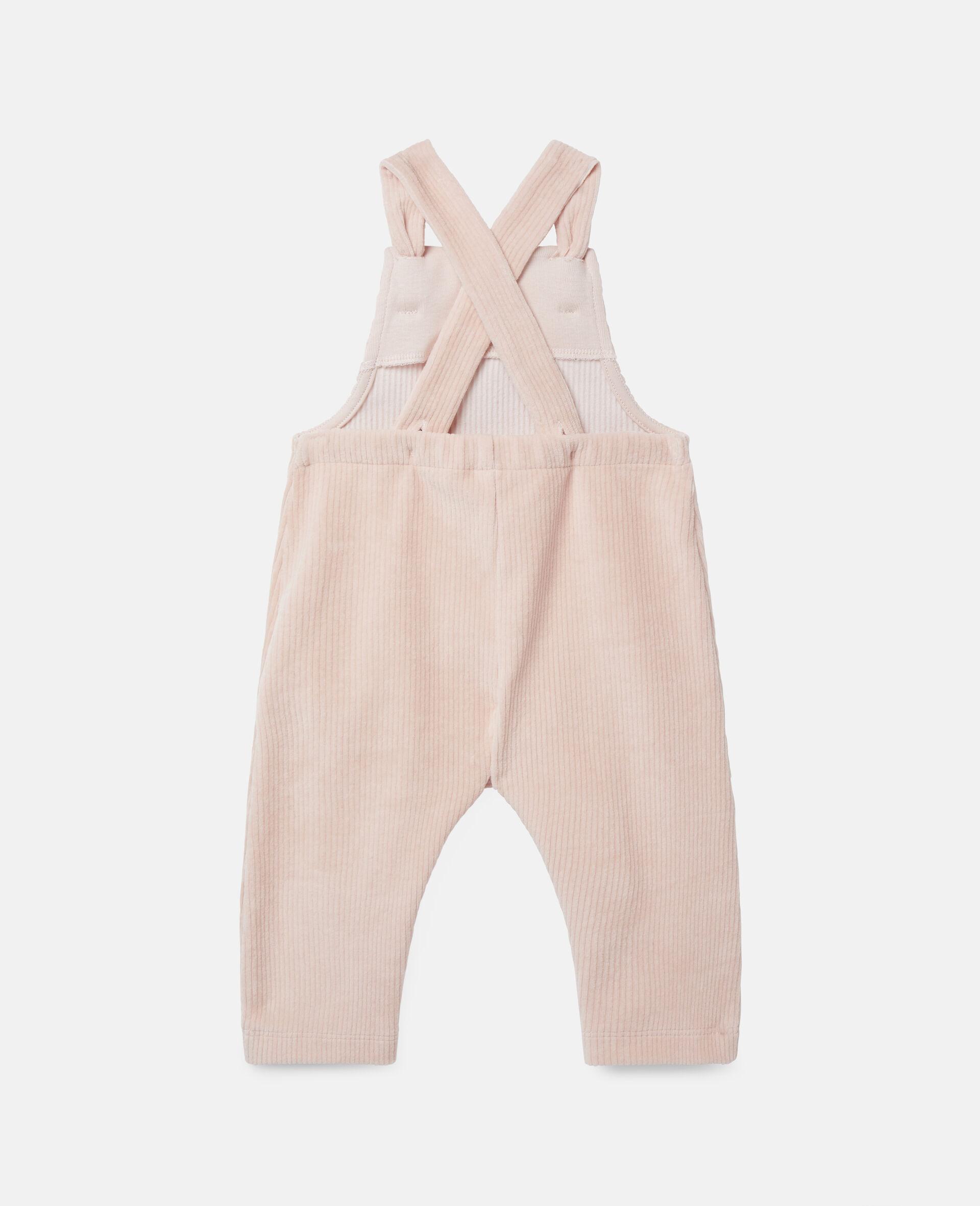 Combinaison pour bébé en velours-Rose-large image number 3