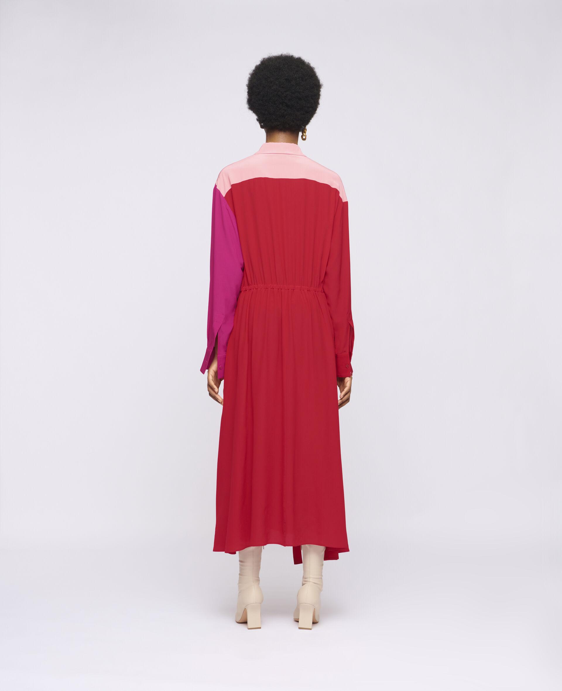 Mia 真丝连衣裙-红色-large image number 2