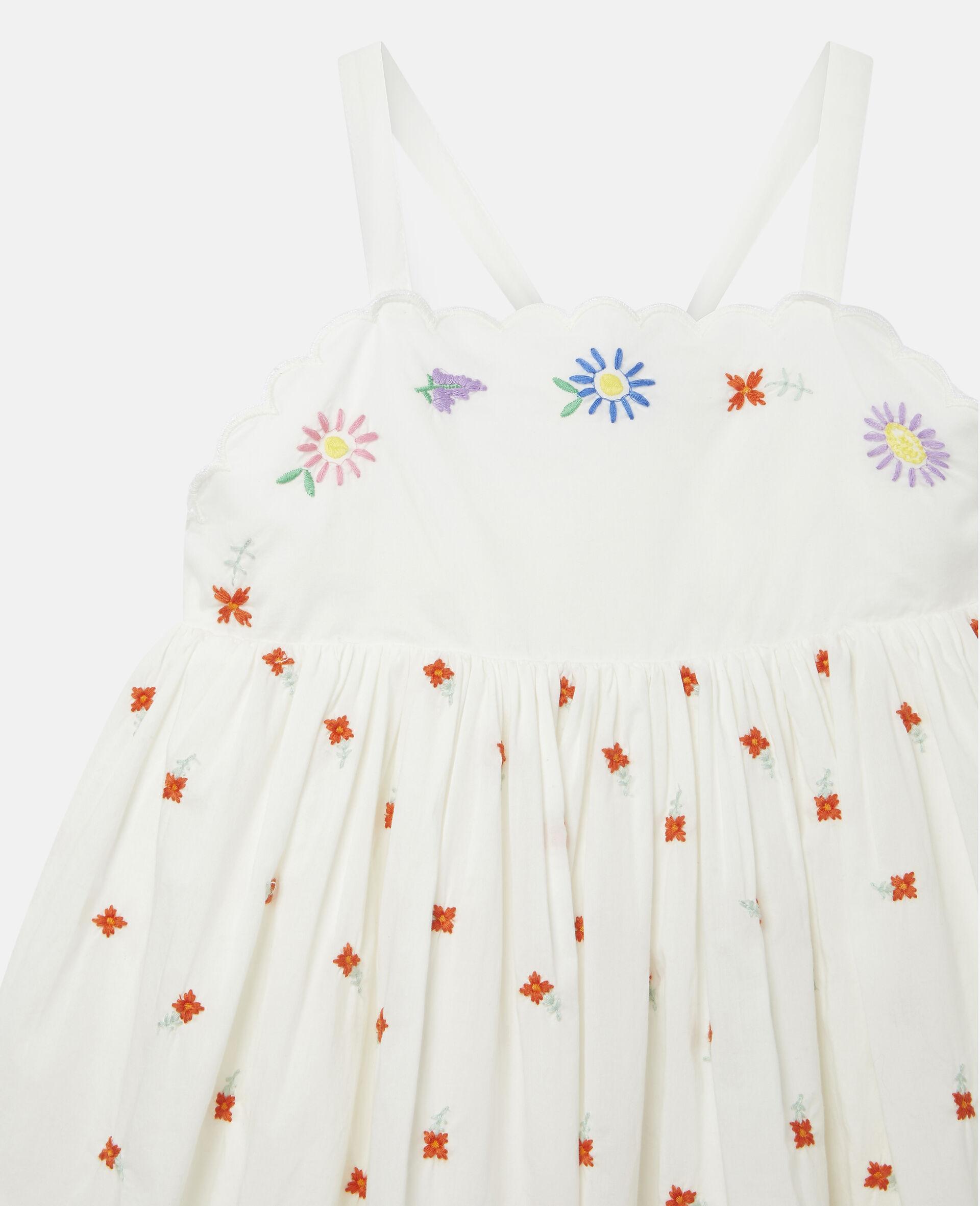 Baumwoll-Kleid mit Blumenstickerei-Weiß-large image number 2
