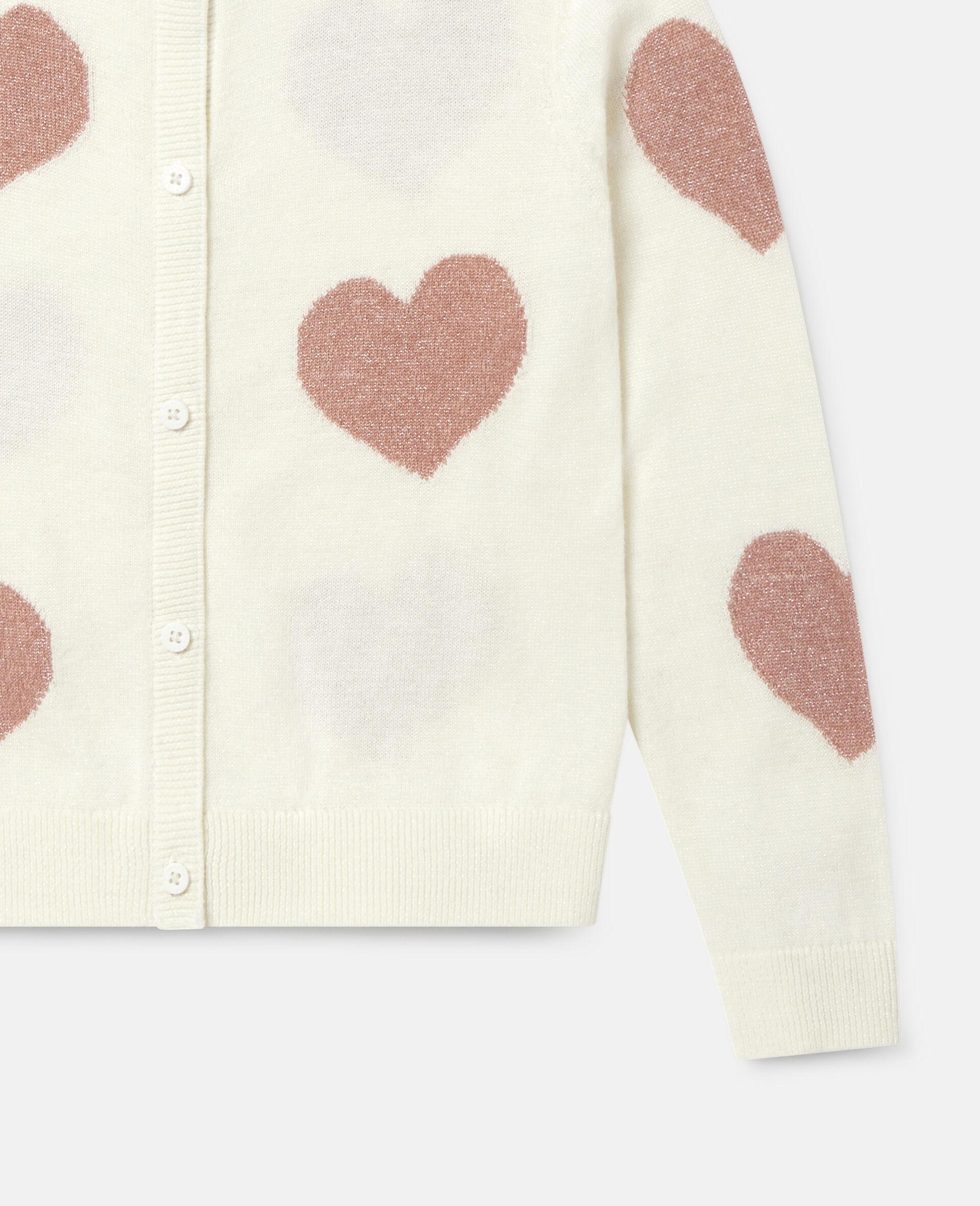 Hearts Knit Cardigan -White-large image number 2