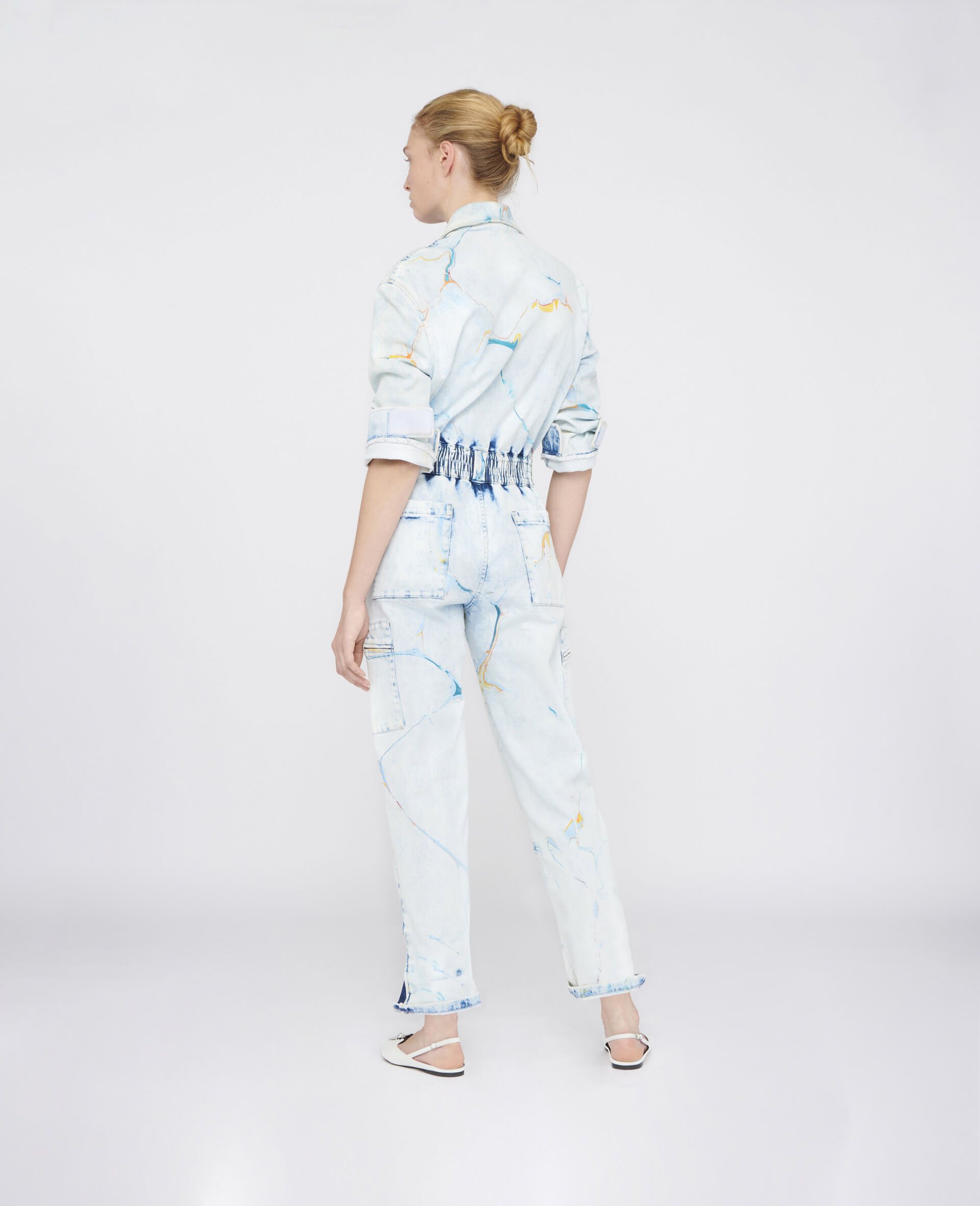 The Denim Jumpsuit -Multicolour-large image number 2