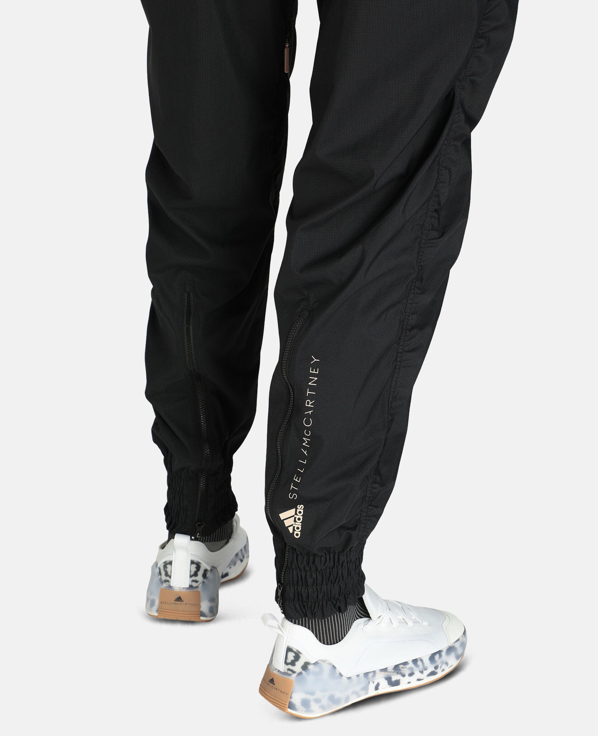 Black Woven Training Pants-Black-large image number 3