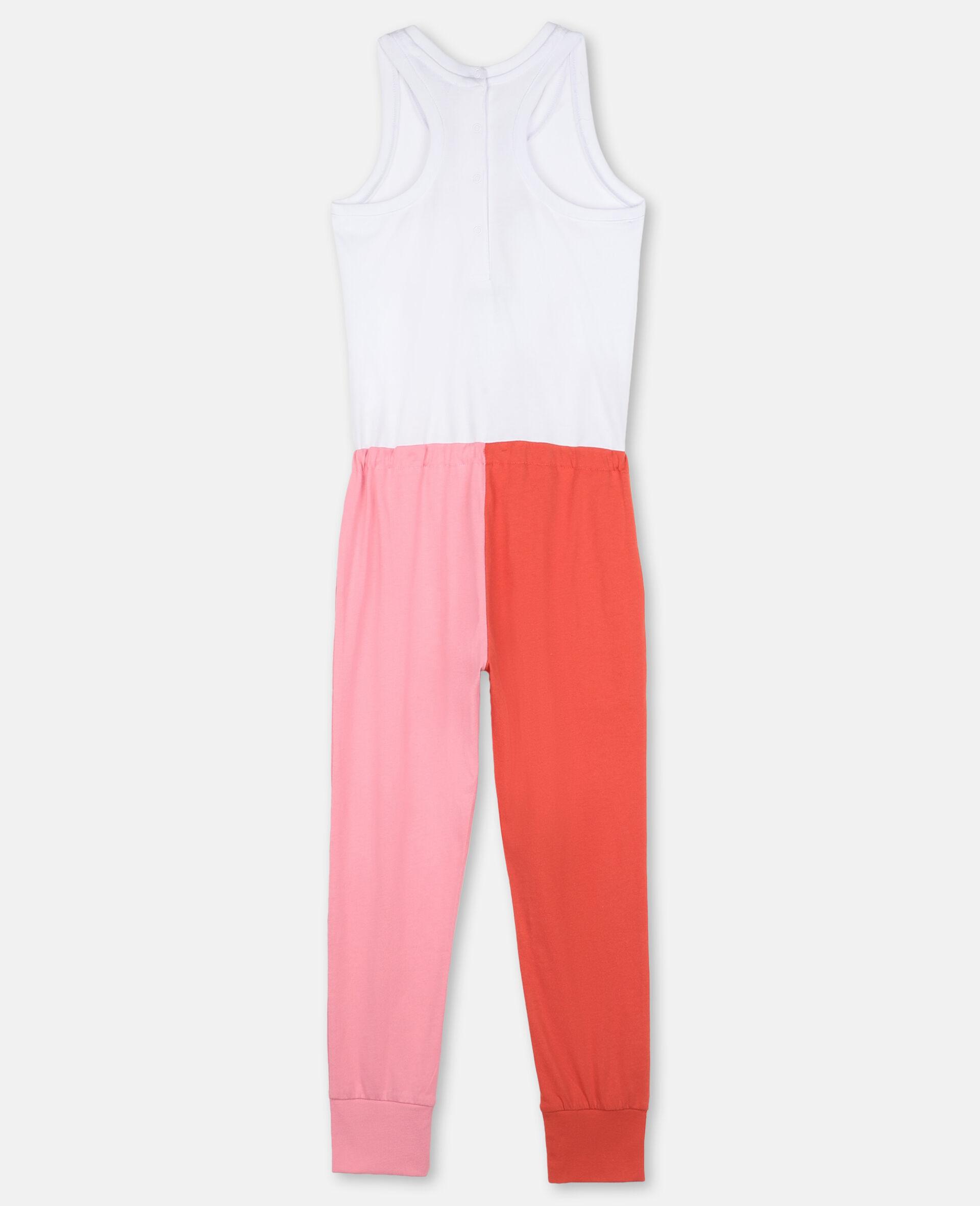 Flamingo Cotton Jumpsuit-White-large image number 3