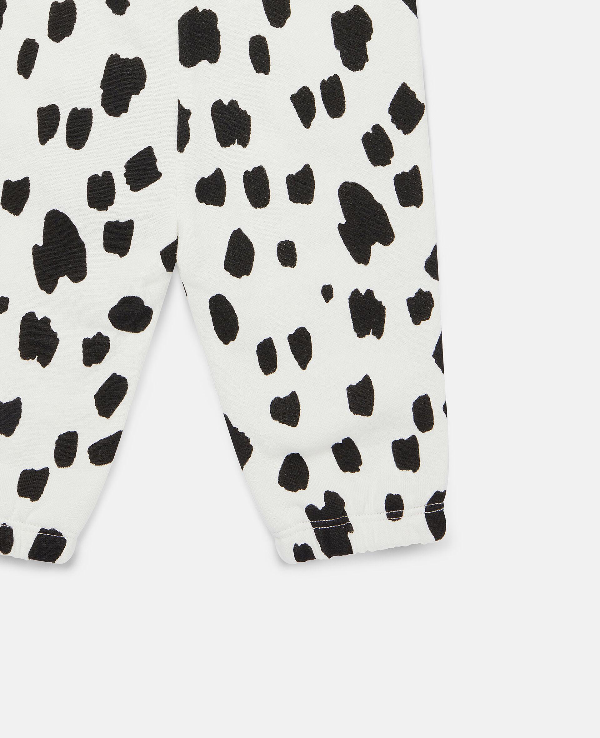 Dalmatian Spots Fleece Joggers-White-large image number 1