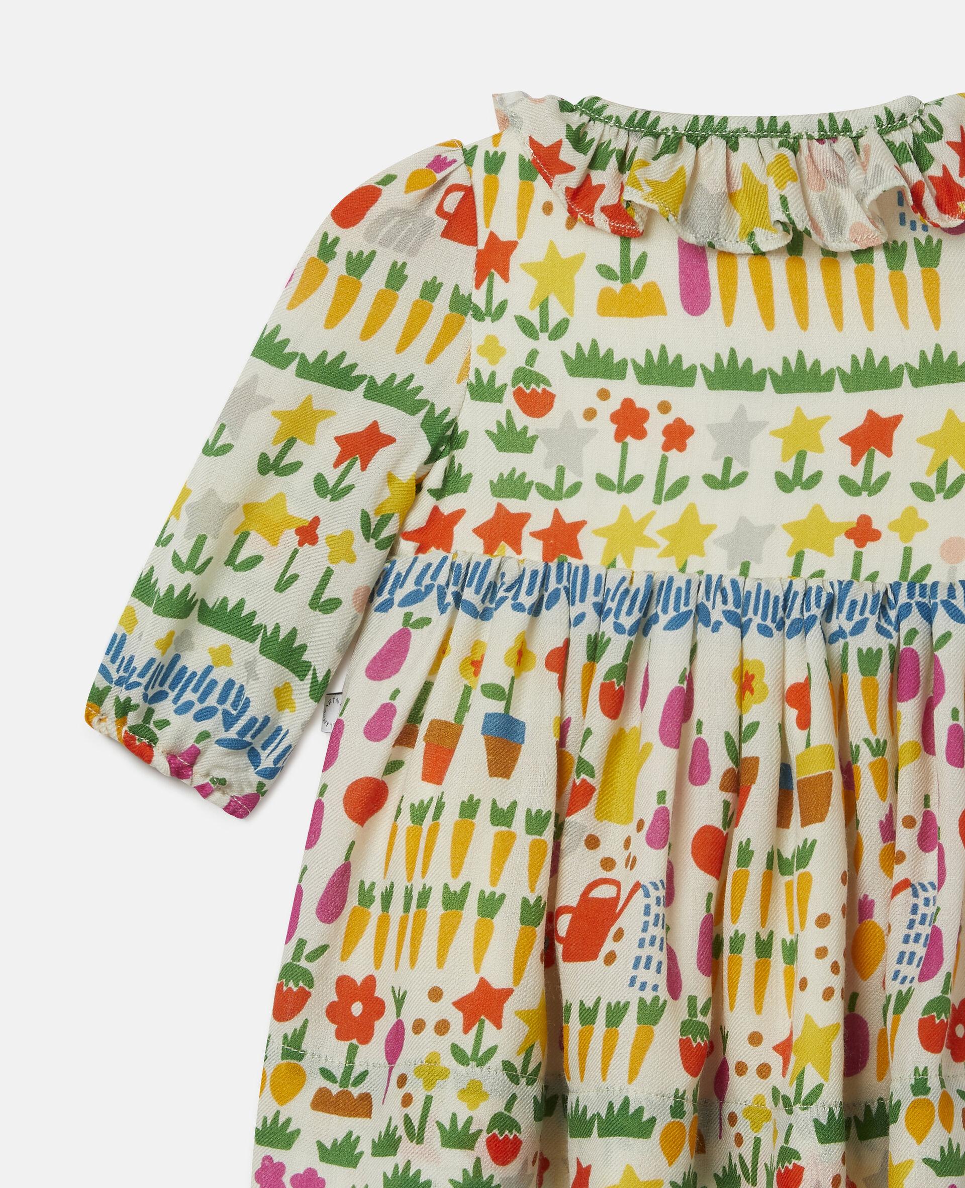 Kleid aus Wolle mit Garten-Print-Bunt-large image number 2