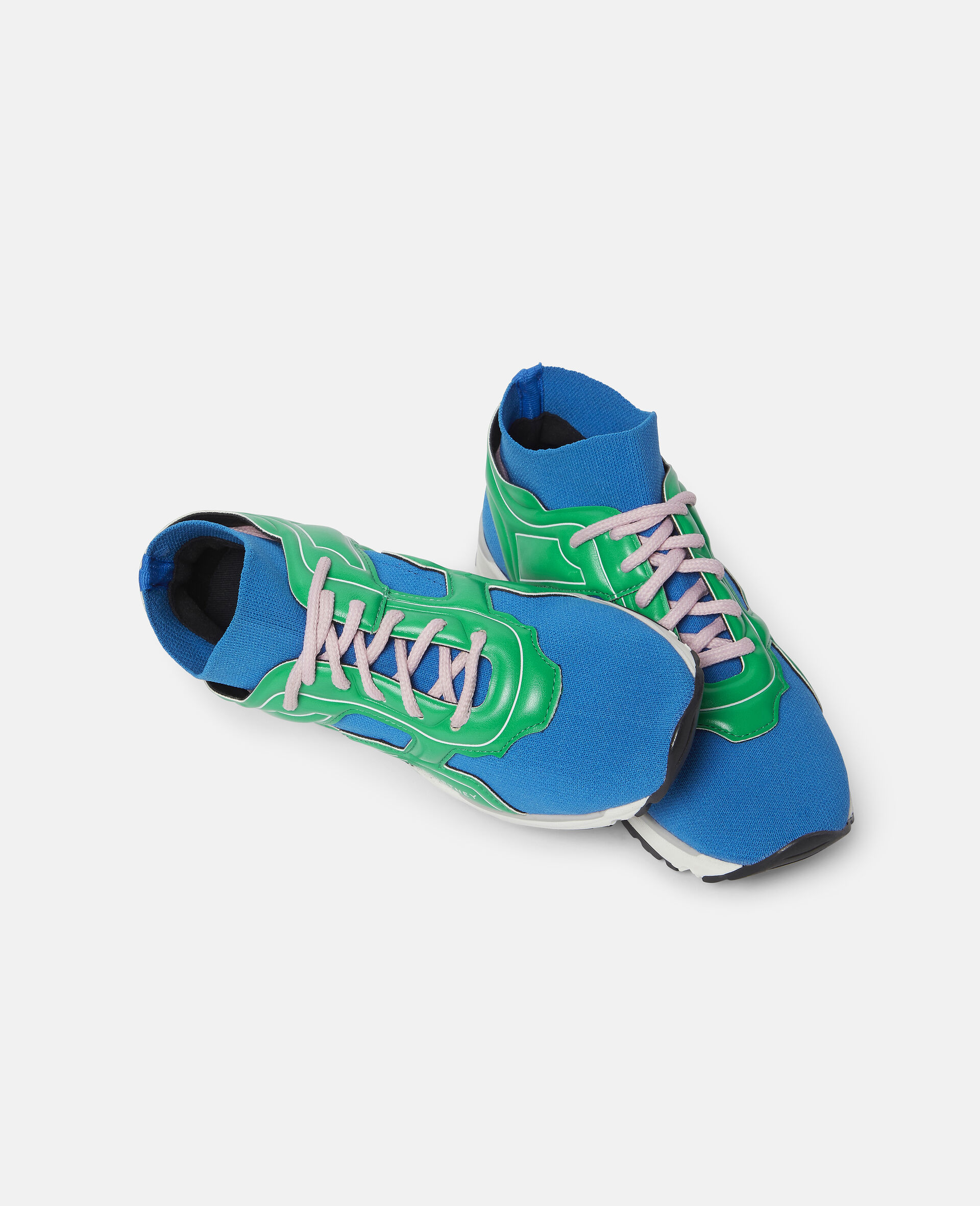 Knit Sock Sport Trainers-Blue-large image number 1