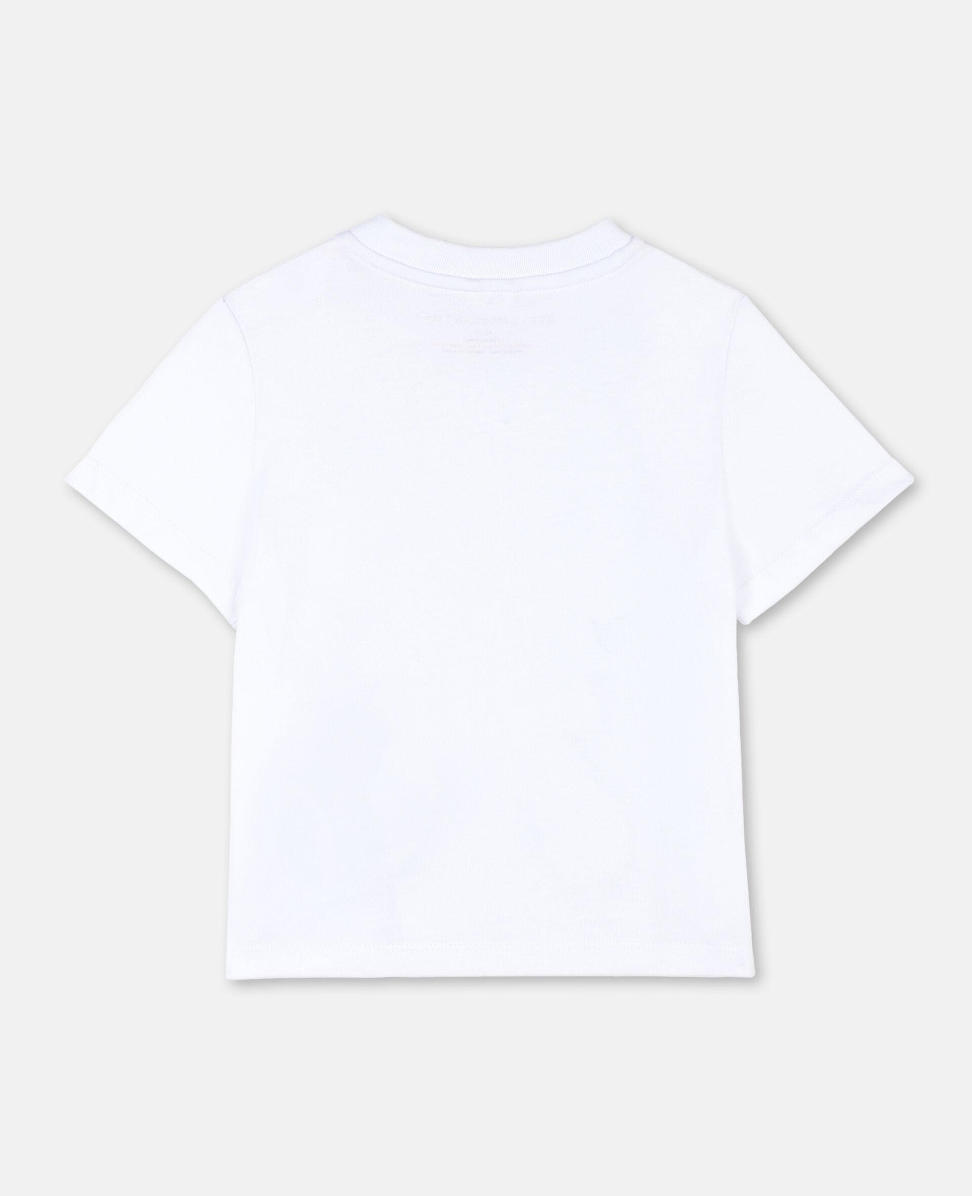 T-shirt en coton à motif jumelles -Blanc-large image number 3