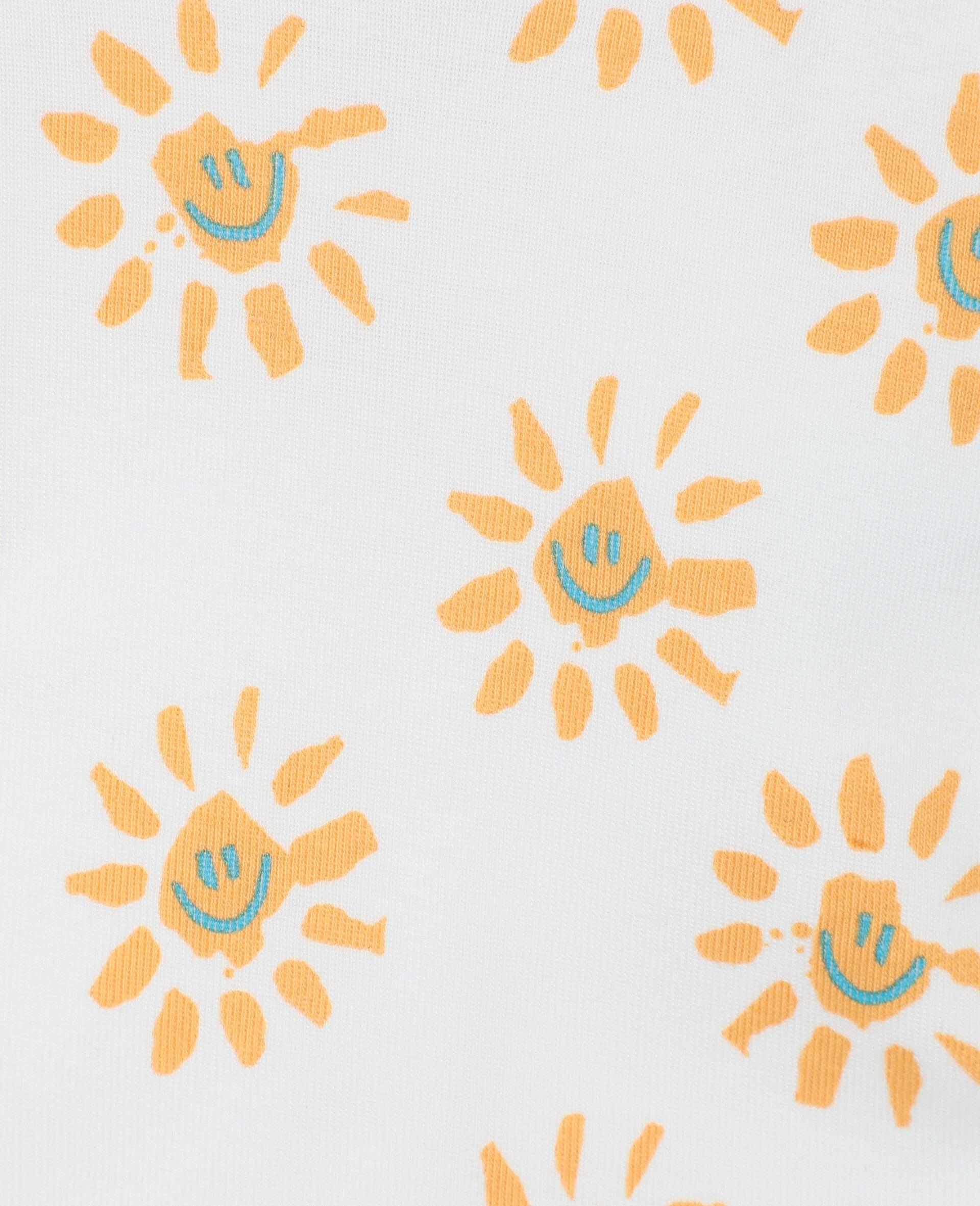 Happy Sun 平纹针织罗纹围兜套装 -黄色-large image number 2