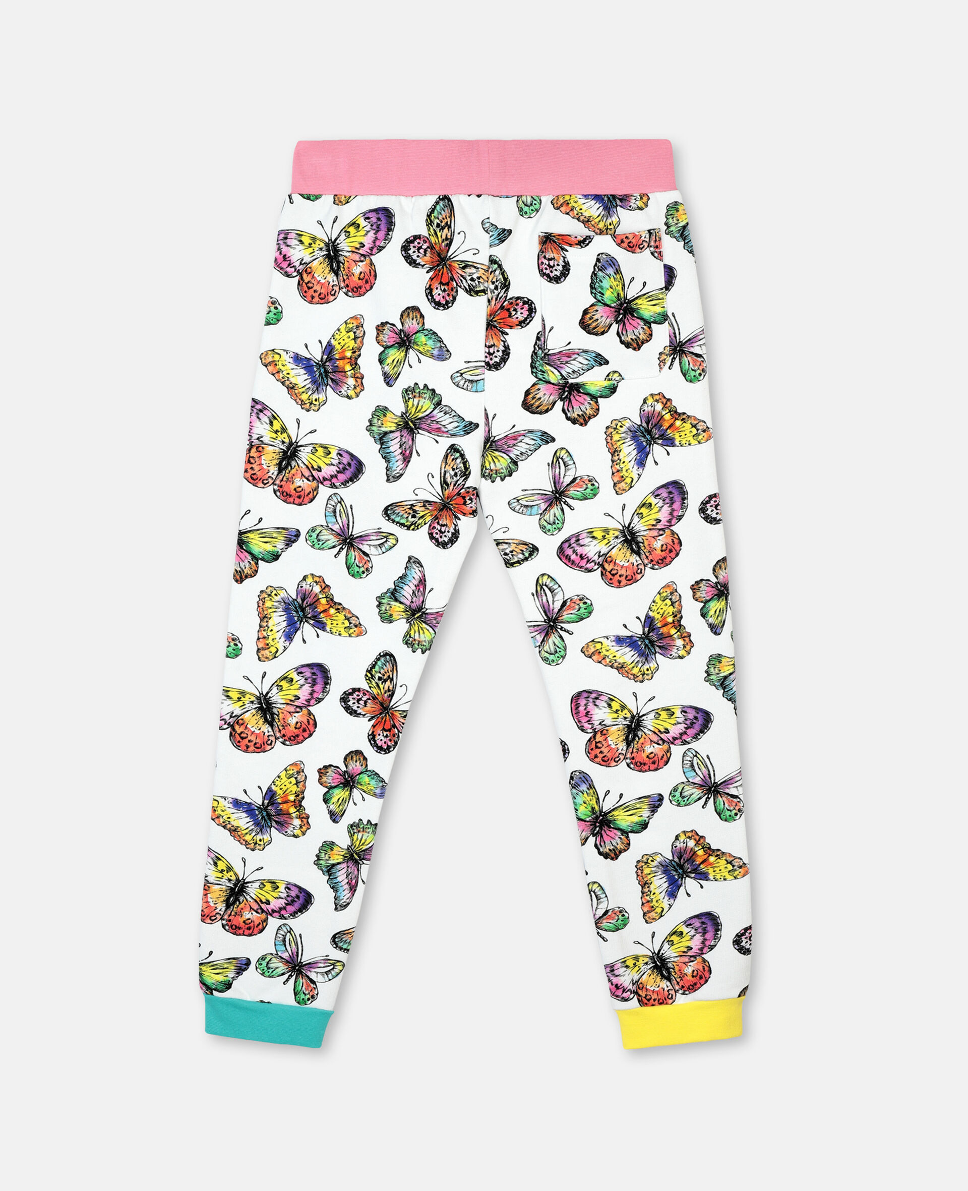 Butterfly Cotton Fleece Joggers -Multicolour-large image number 3
