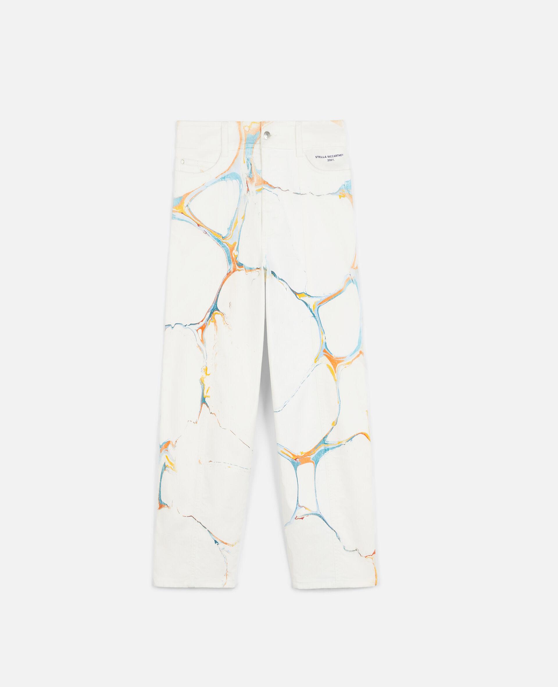 直筒牛仔裤-Multicolored-large image number 0