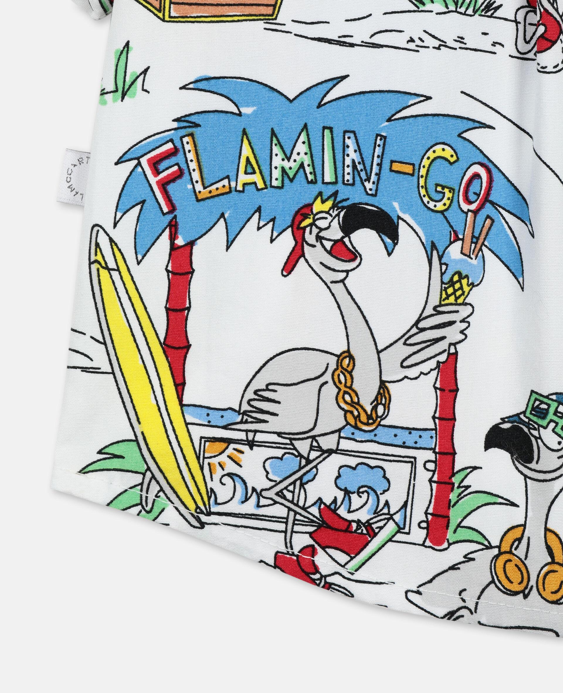Flamingo Land Cotton Shirt -Multicolour-large image number 1