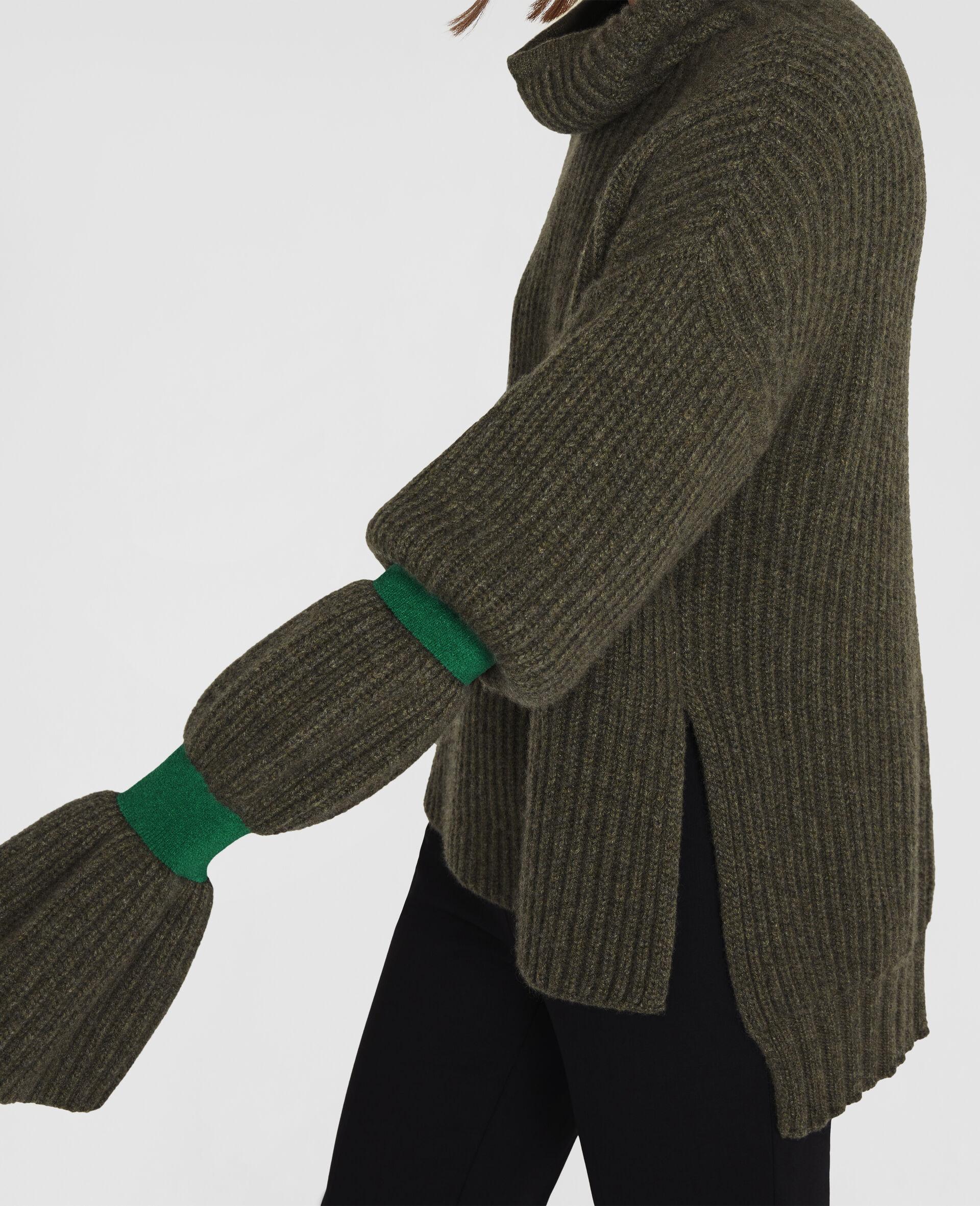 Weicher, voluminöser Pullover-Grün-large image number 3