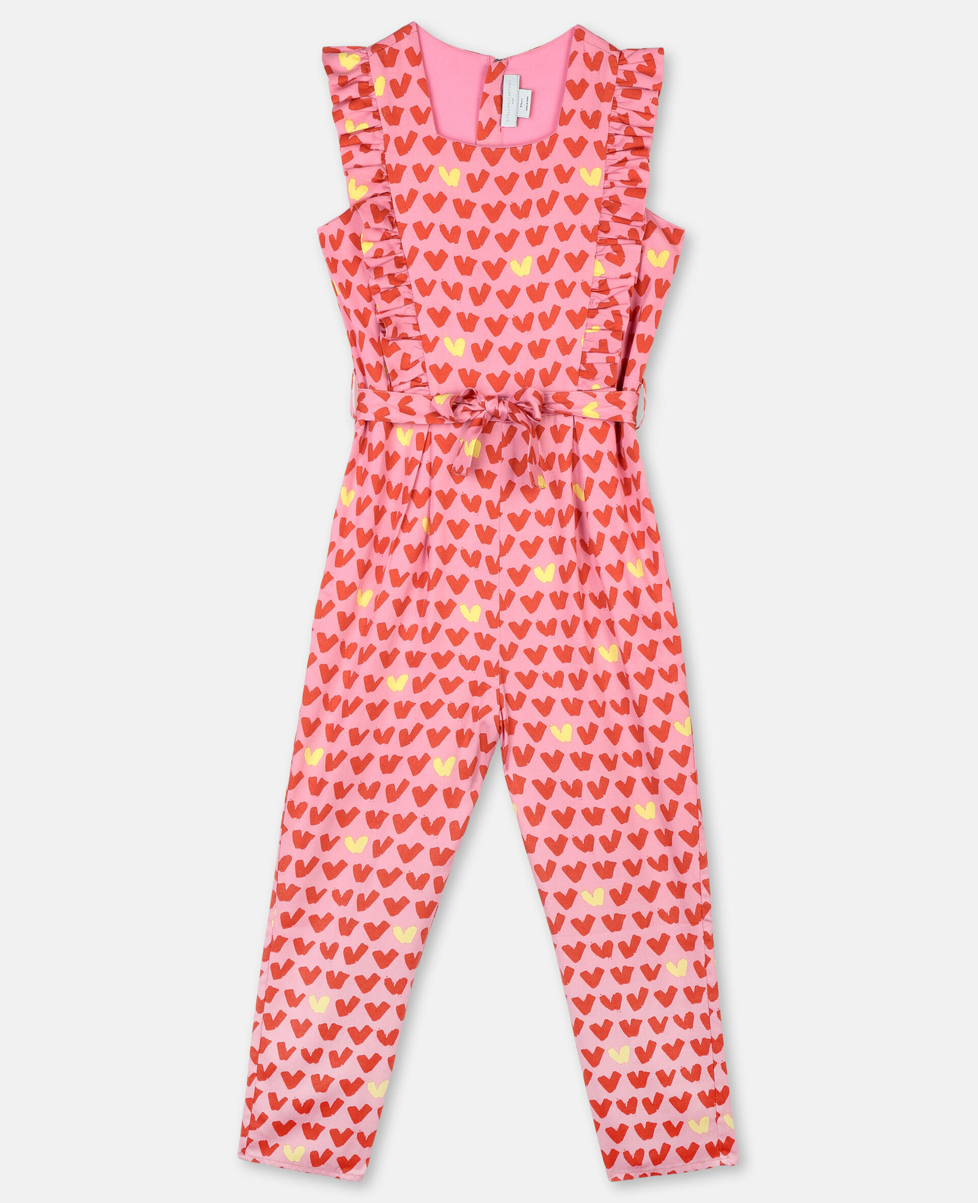 Hearts Tencel Twill Jumpsuit-Pink-large image number 0