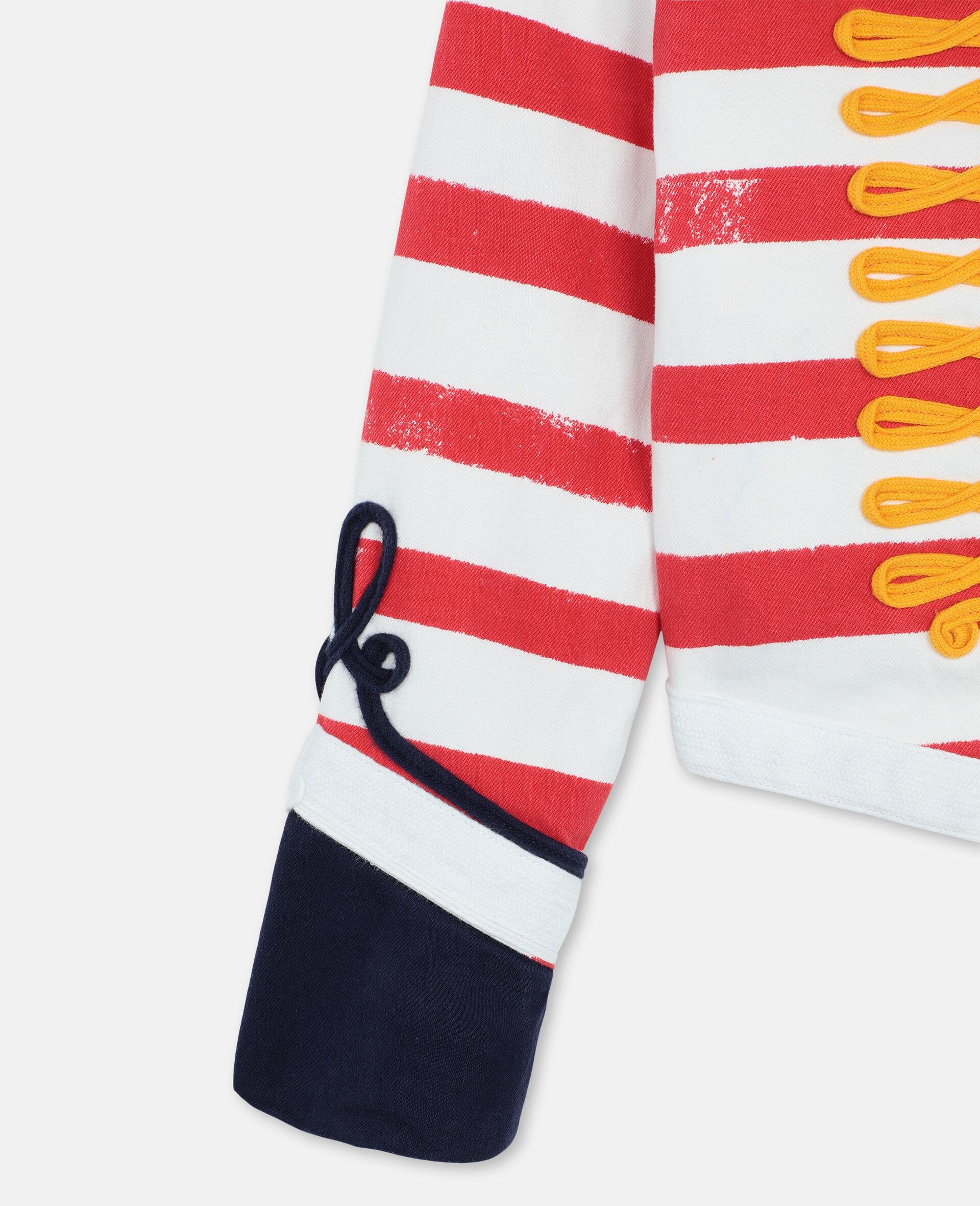 Striped Denim Jacket -Multicolour-large image number 2