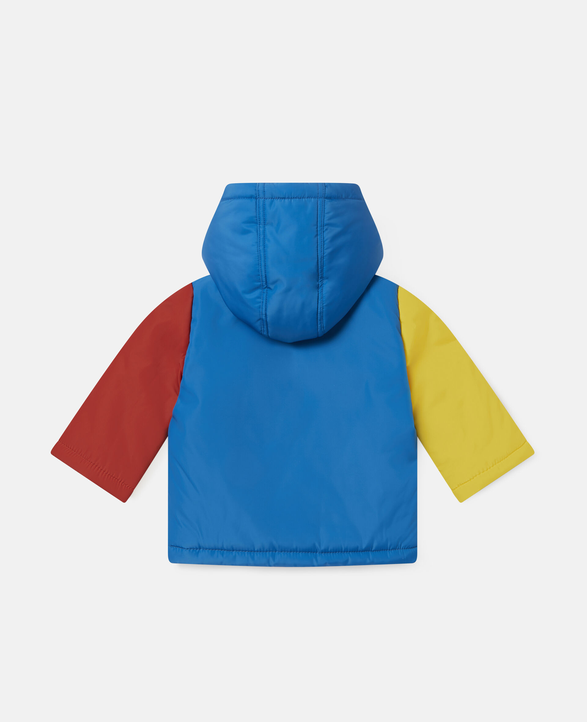 Colourblock Pencil Puffer Jacket-Multicolour-large image number 3