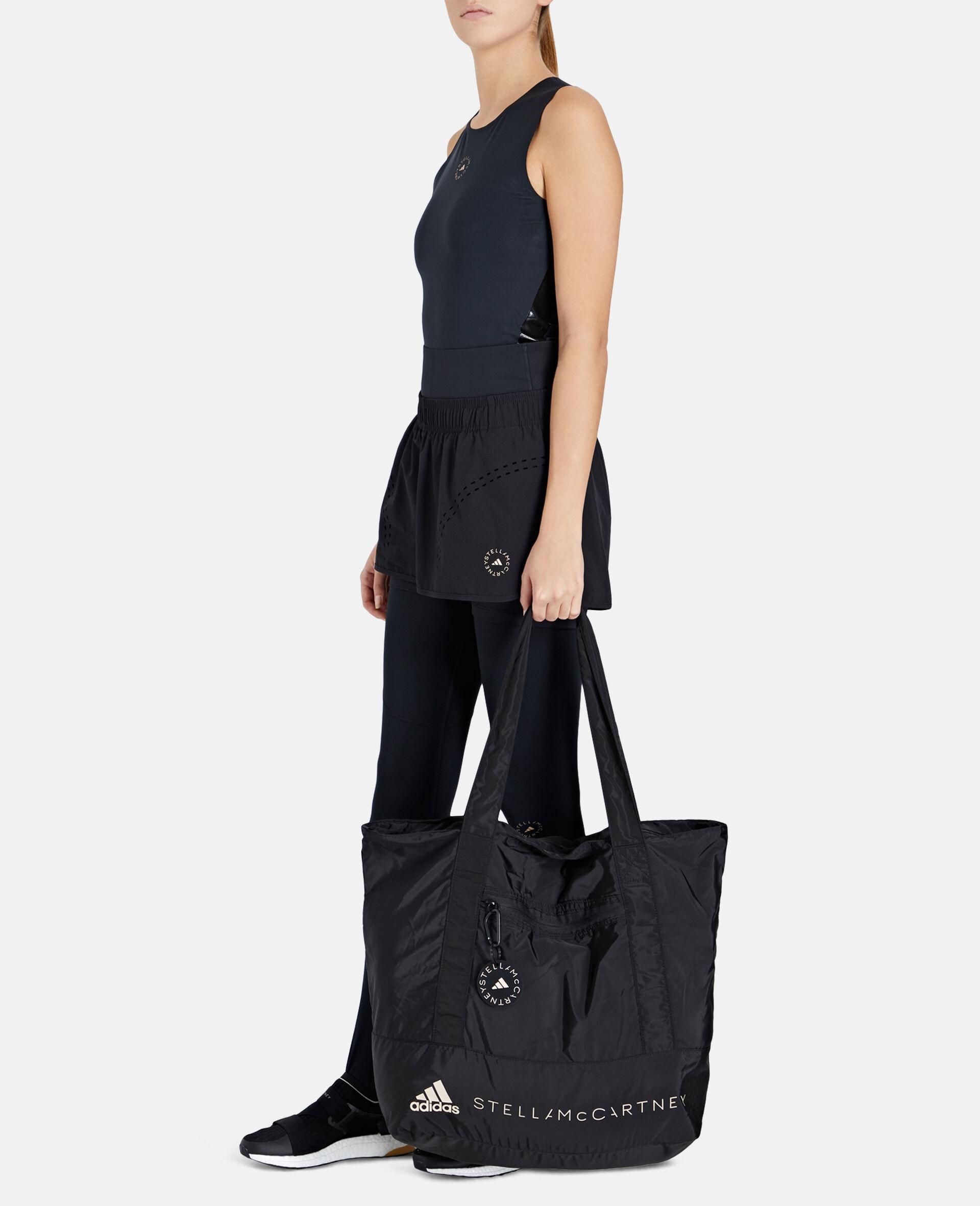 Black Printed Tote Bag -Black-large image number 3