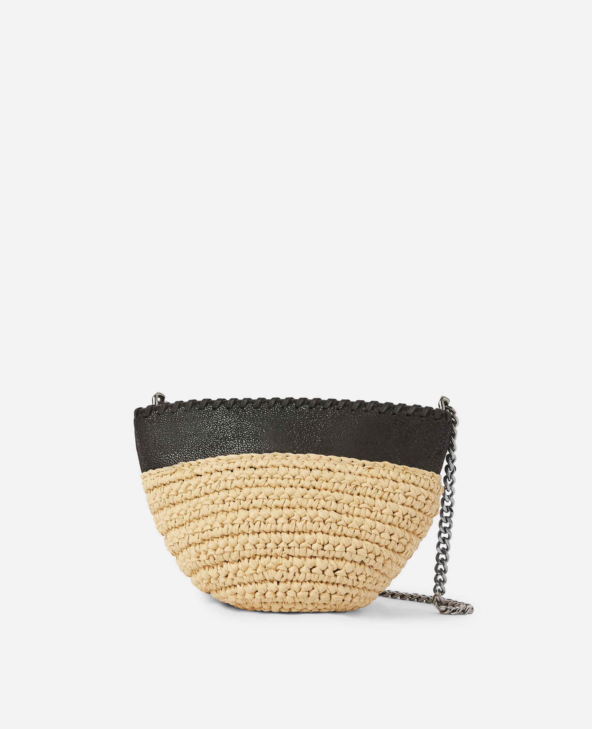 Falabella Raffia Mini Shoulder Bag  -Black-large image number 0