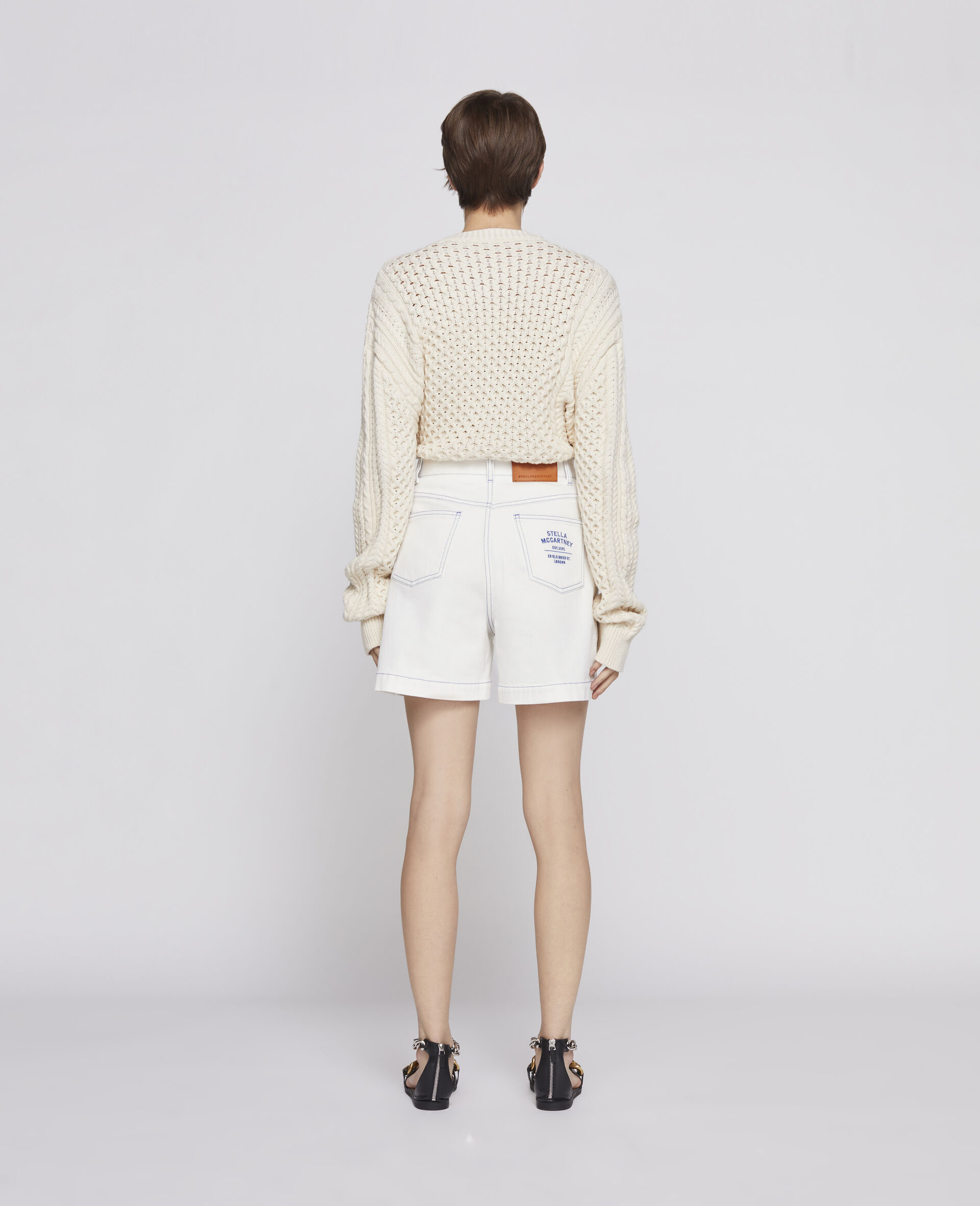 23 OBS Denim Shorts-White-large image number 2