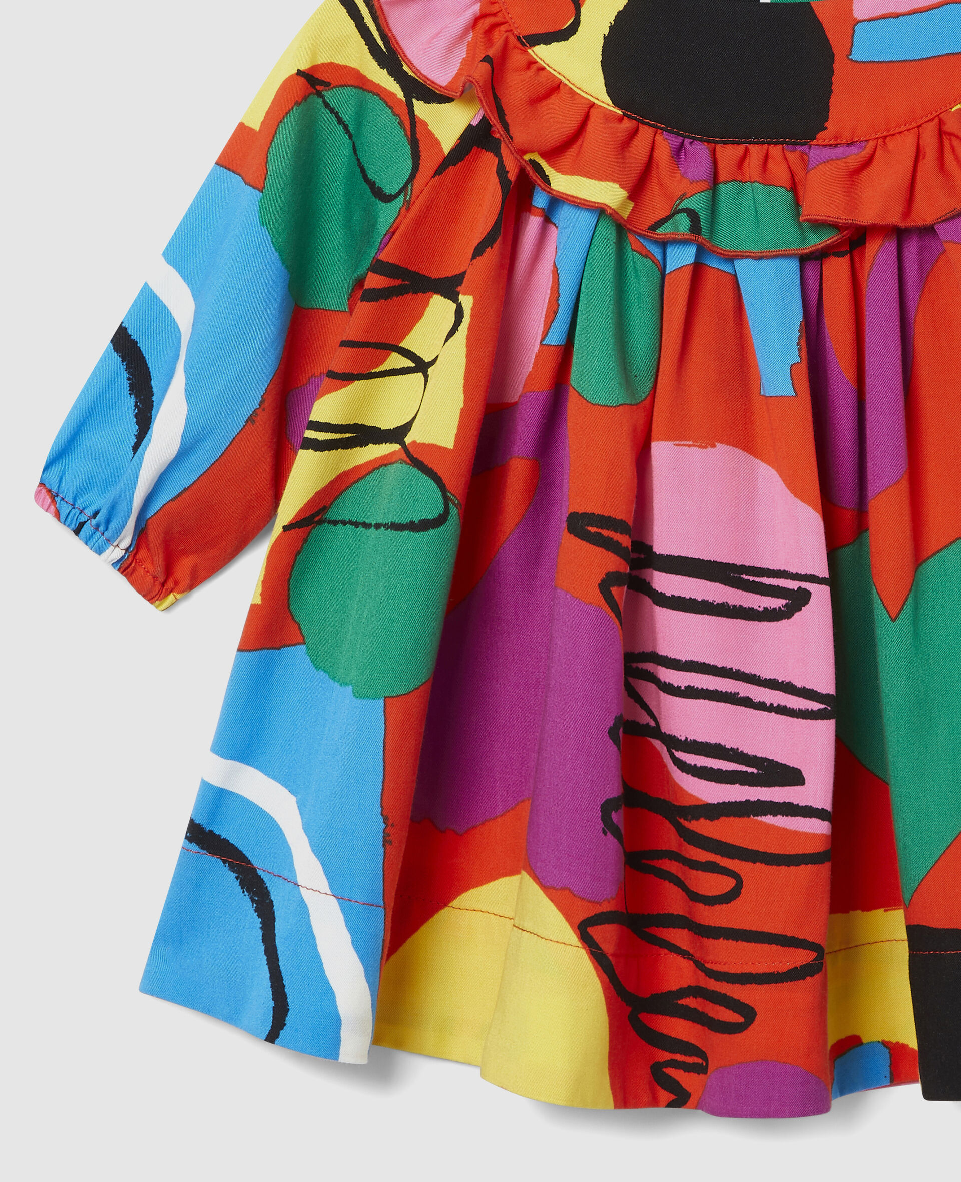 Robe en sergé de lyocell imprimé peinture-Fantaisie-large image number 1