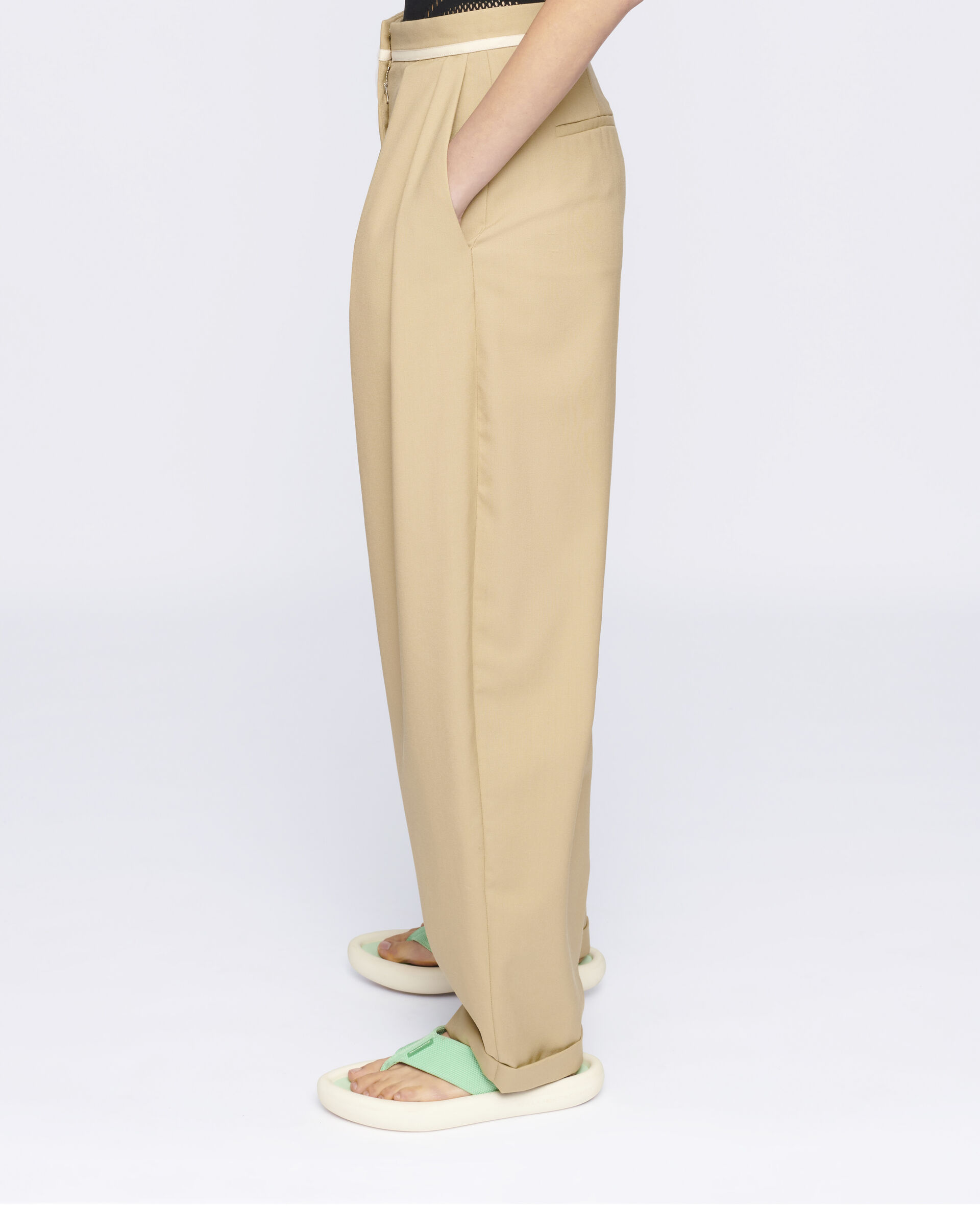 Ariana Wool Trousers-Beige-large image number 3